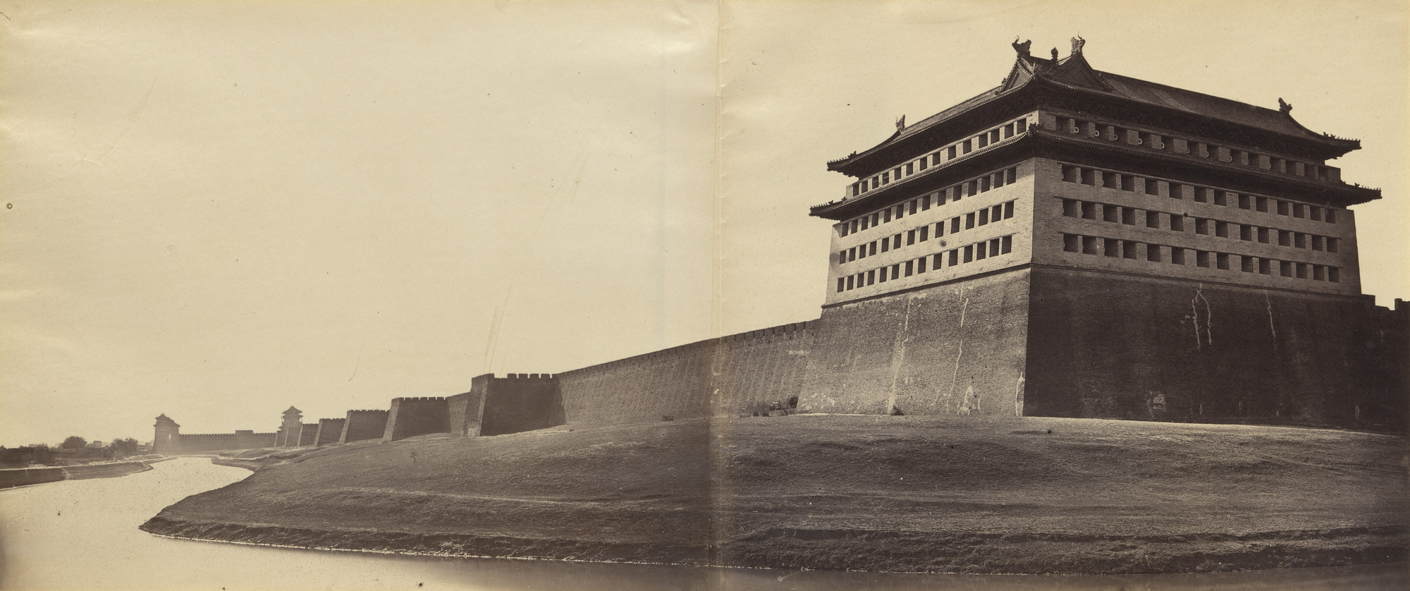Felice Beato. North and East Corner of the Wall of Pekin. 1860