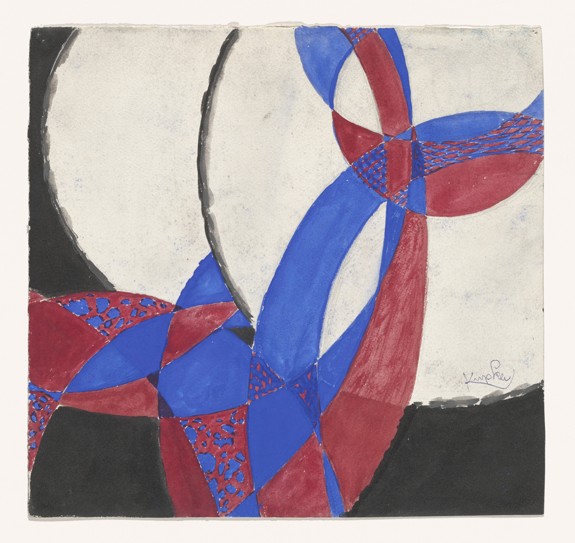František Kupka. Amorpha: Fugue in Two Colors. 1912