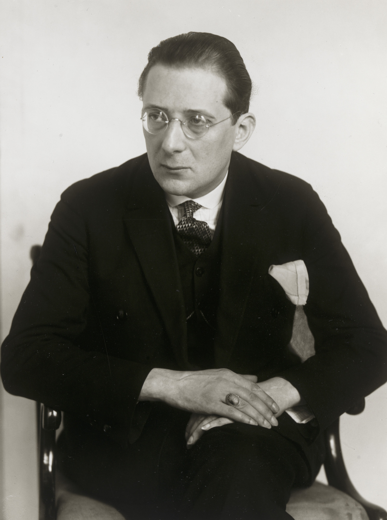 August Sander. Writer and Theater Critic [Franz Paul Brückner]. c. 1926