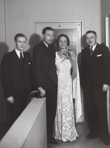 Film Actors [2nd from left Willy Birgel]