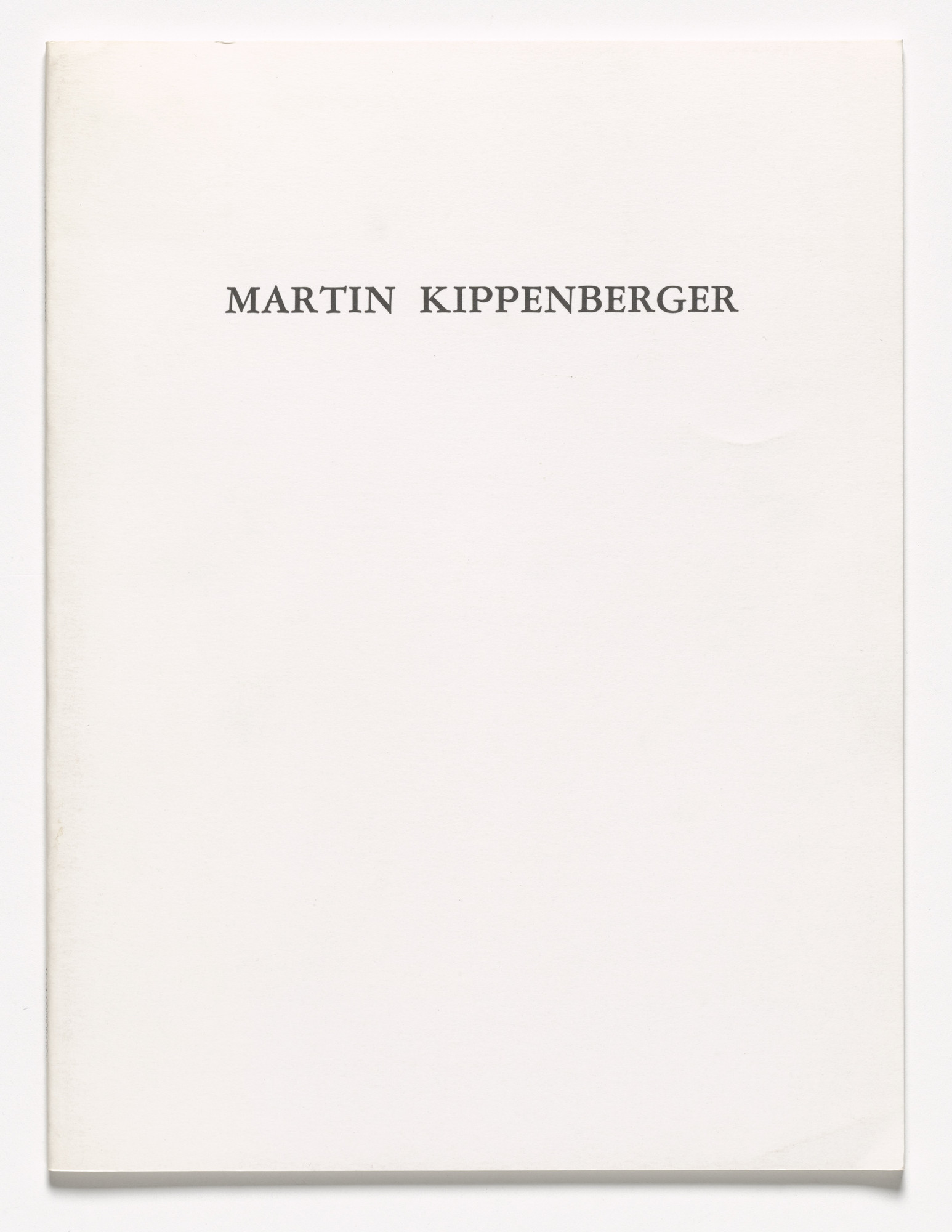 Martin Kippenberger. New Editions,. 1991
