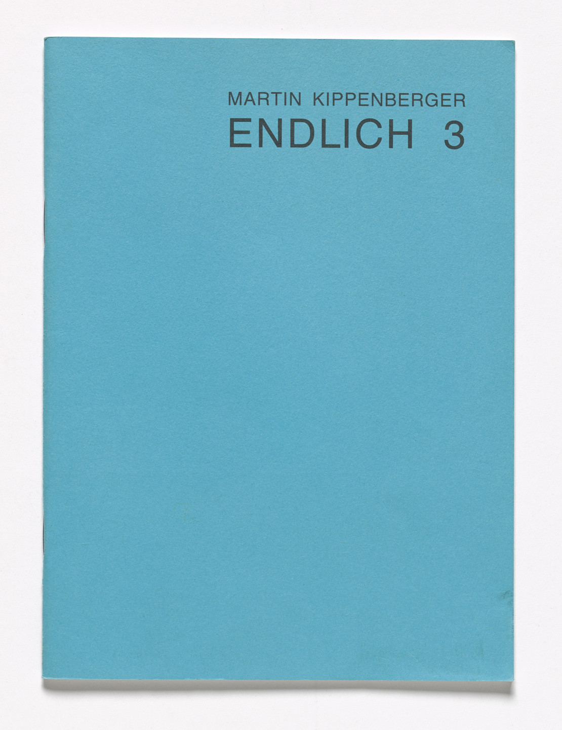 Martin Kippenberger. Endlich 3, Finally 3. 1986