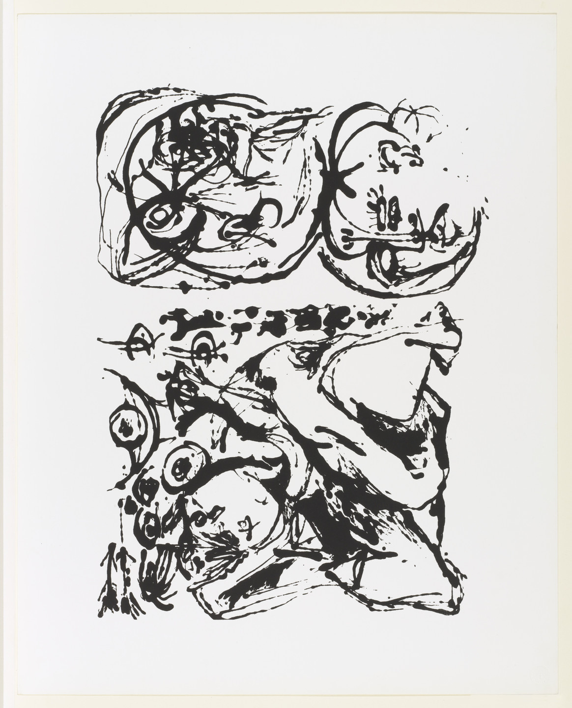 Jackson Pollock. Untitled from an untitled portfolio. 1951