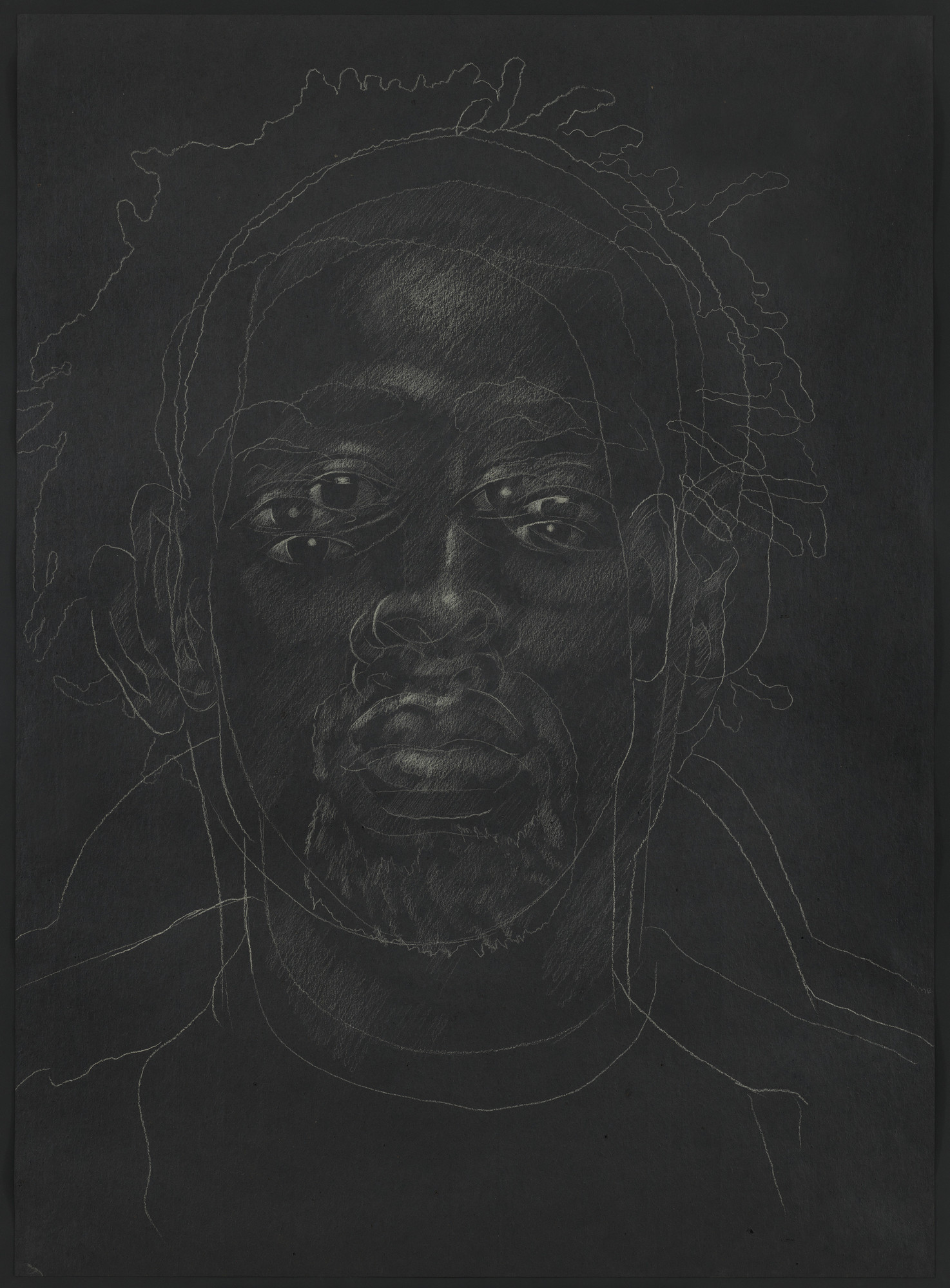 Titus Kaphar. The Jerome Project (Asphalt and Chalk) V. 2014