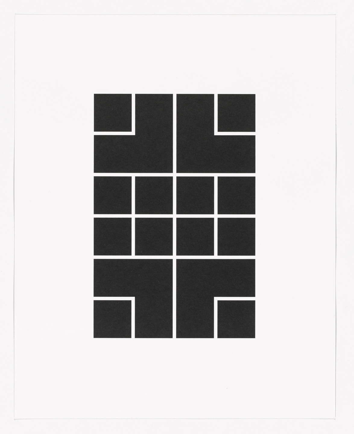 Tauba Auerbach. Square Cloud from Type Specimen Portfolio. 2009, printed 2013