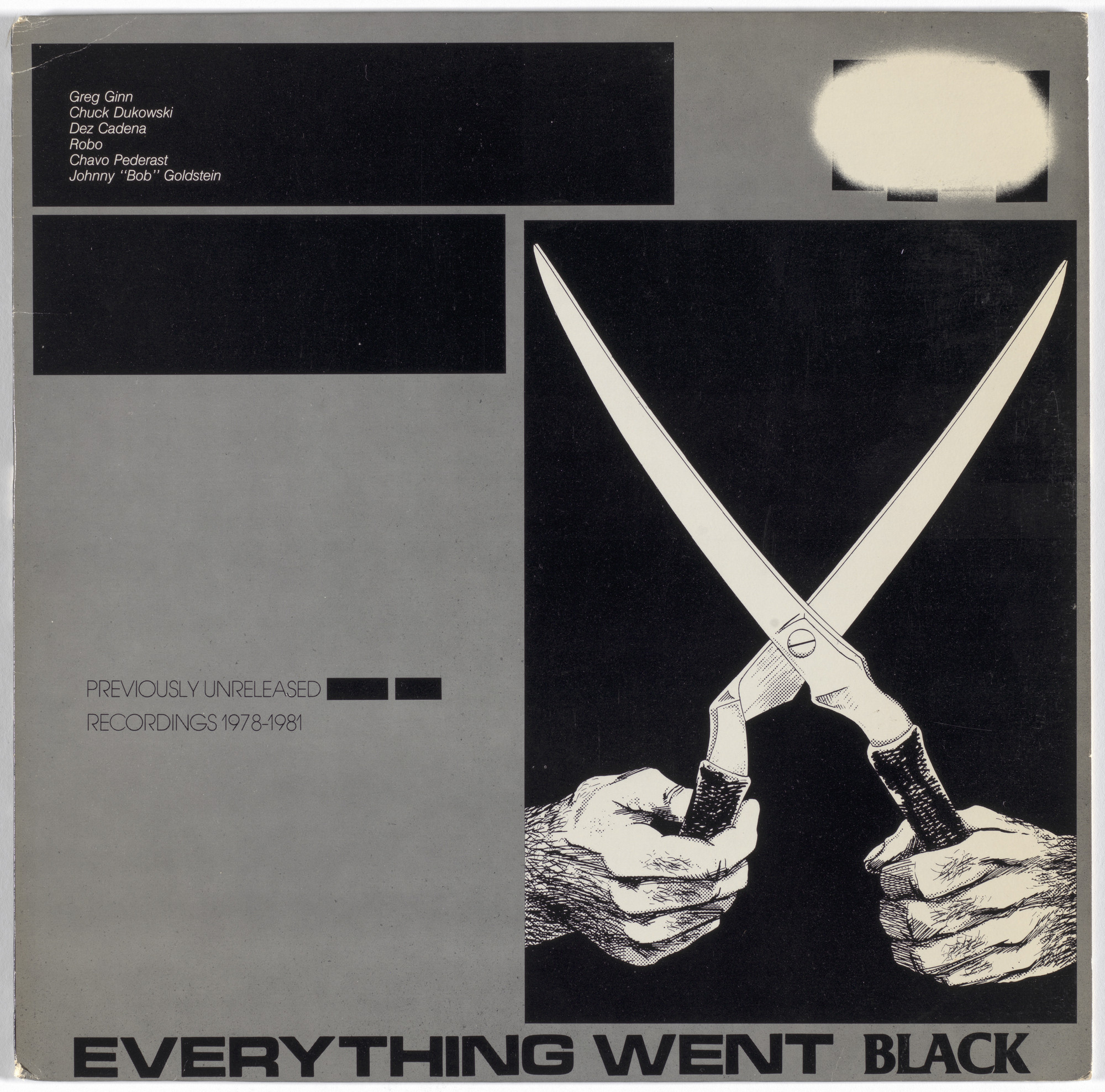 Black Flag, Raymond Pettibon. Everything Went Black. 1983