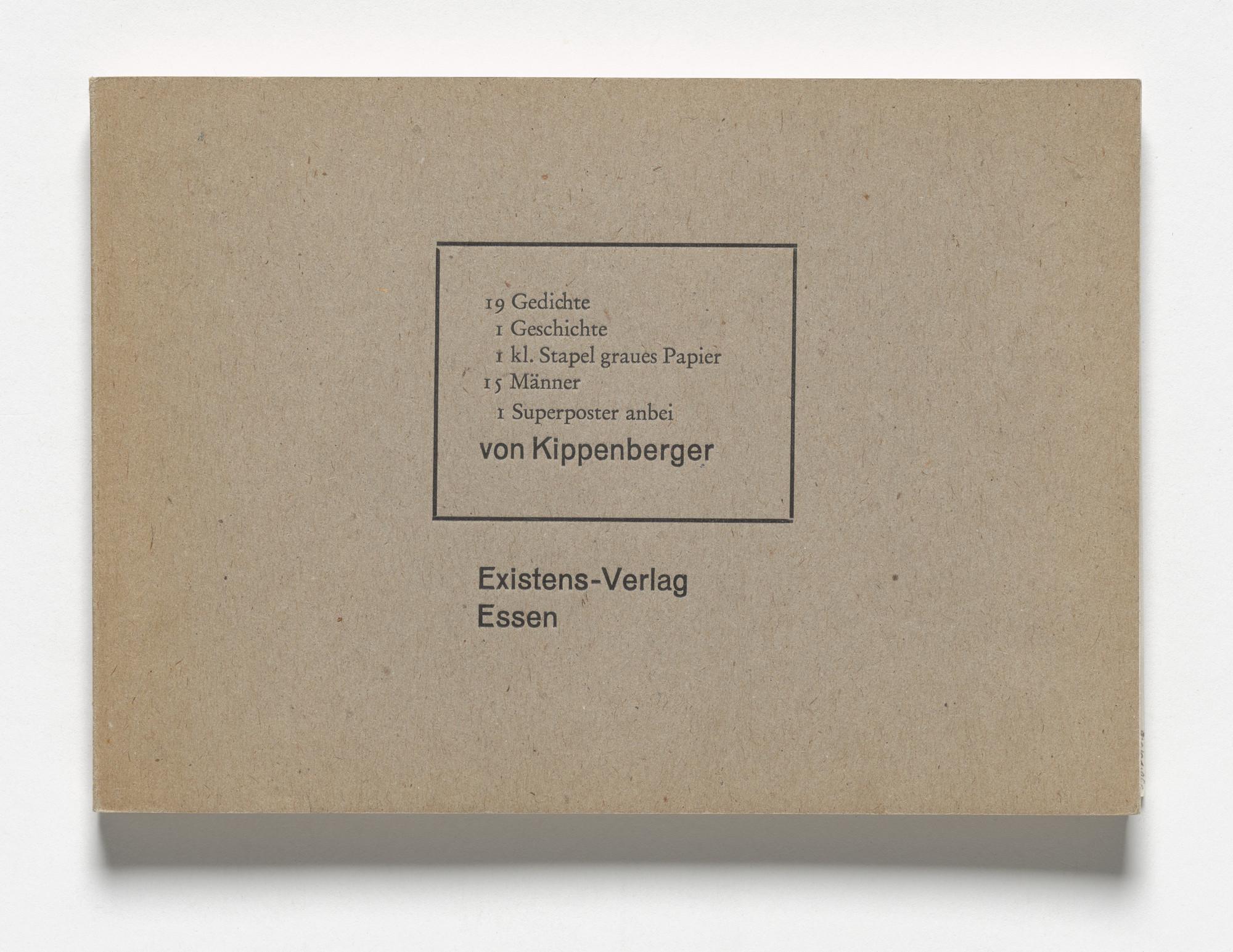 Martin Kippenberger 19 Gedichte 1 Geschichte 1 Kt Stapel