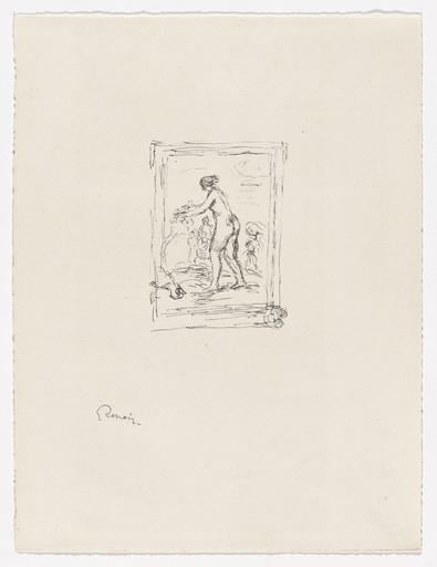 lithography Pierre Auguste Renoir-Moosrosen