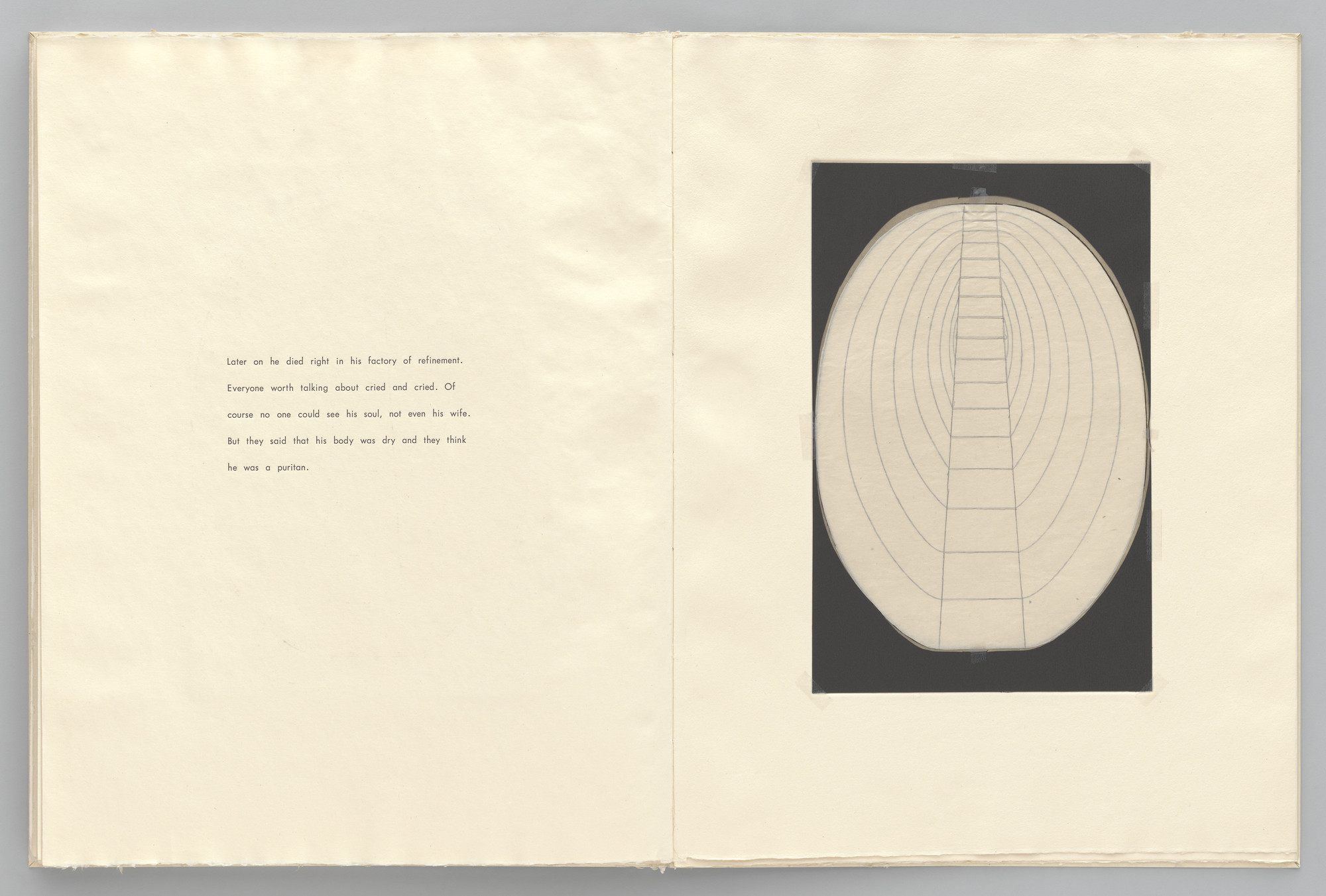 Louise Bourgeois. Untitled, plate 8 of 8, from the maquette of the illustrated book, the puritan. 1990