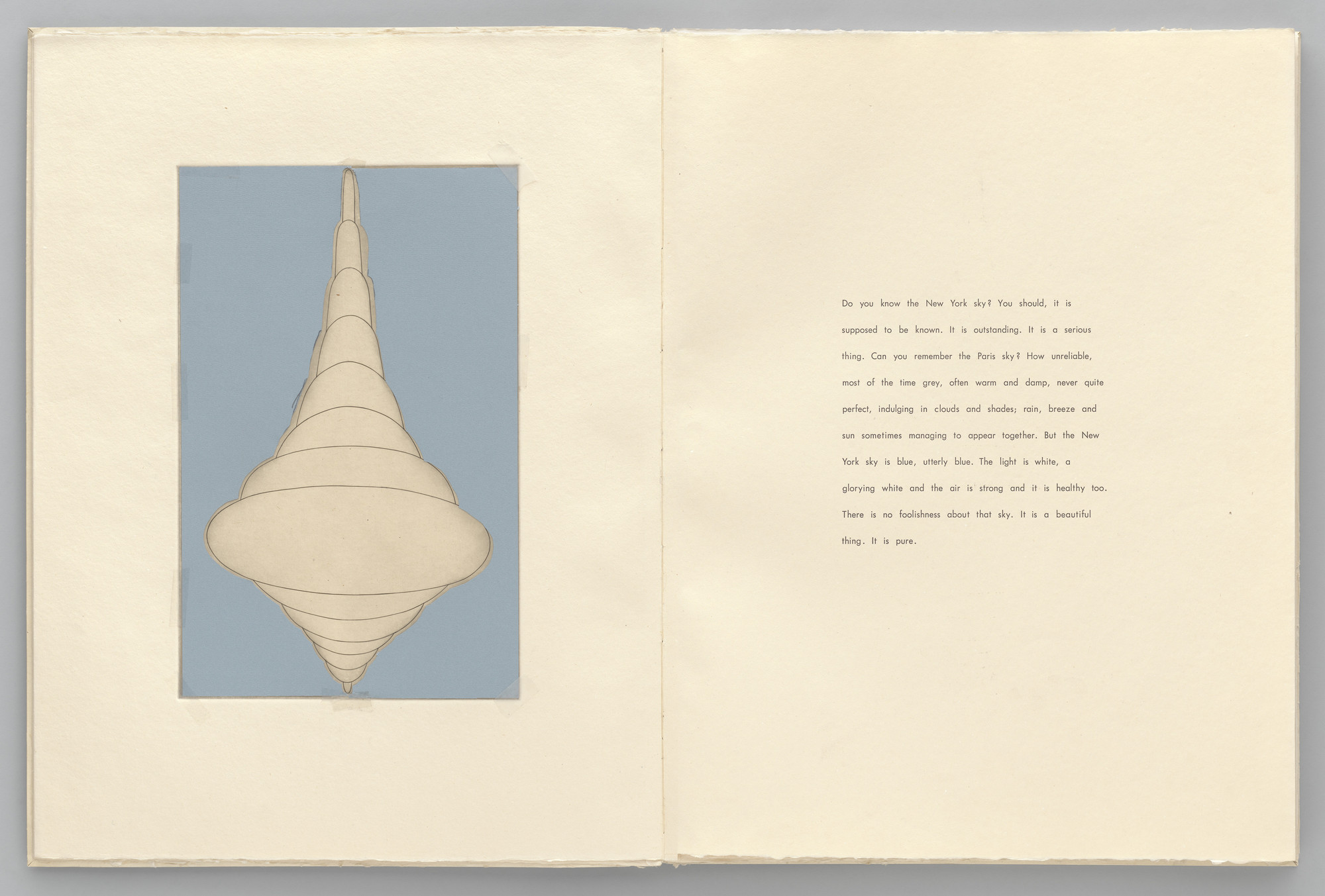 Louise Bourgeois. Untitled, plate 1 of 8, from the maquette of the illustrated book, the puritan. 1990