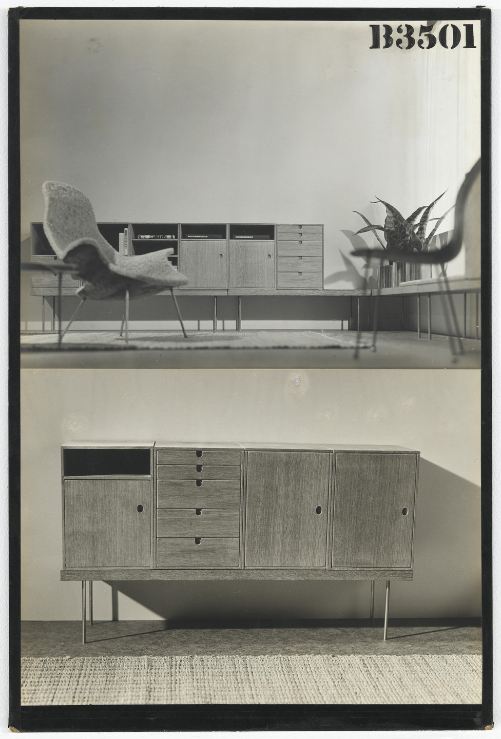 Charles Eames, Eero Saarinen. Entry Panel for MoMA Competition for Organic Design in Home Furnishings. 1940