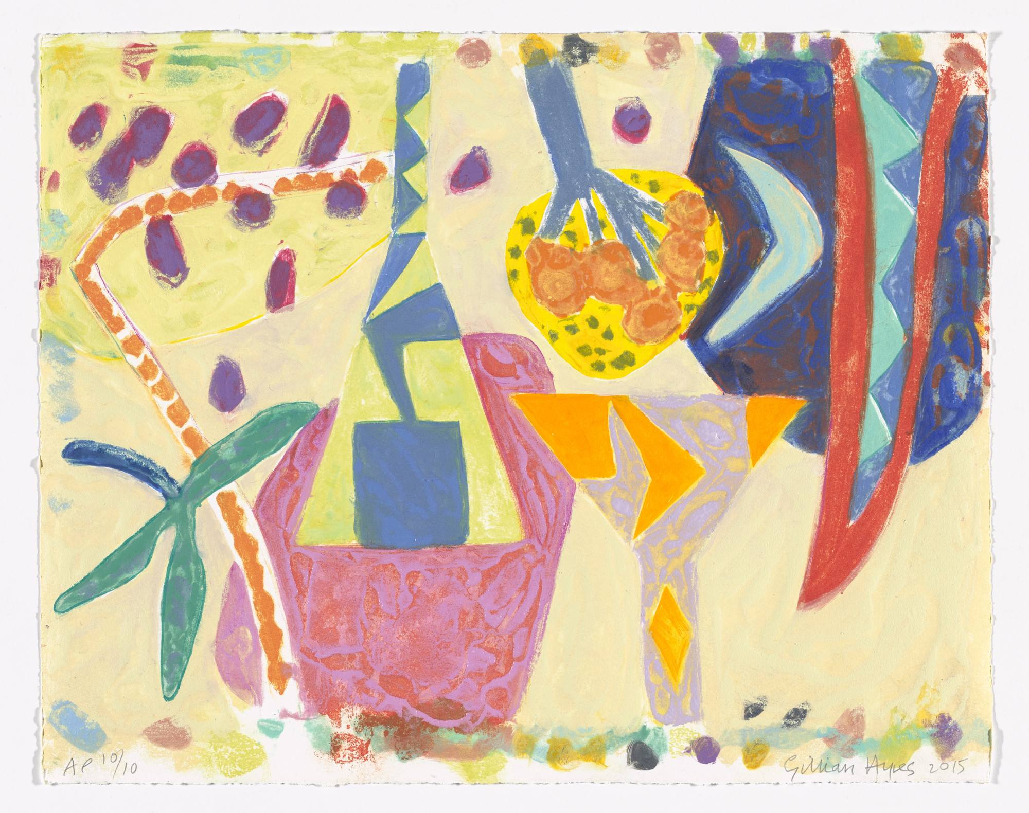 Gillian Ayres. For Alan from Alan Cristea Gallery Twentieth Anniversary Portfolio. 2015