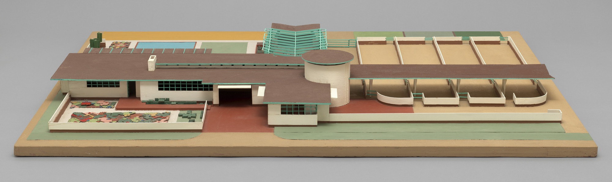 Frank Lloyd Wright. Davidson Little Farms Unit Project (Model). 1932–1933