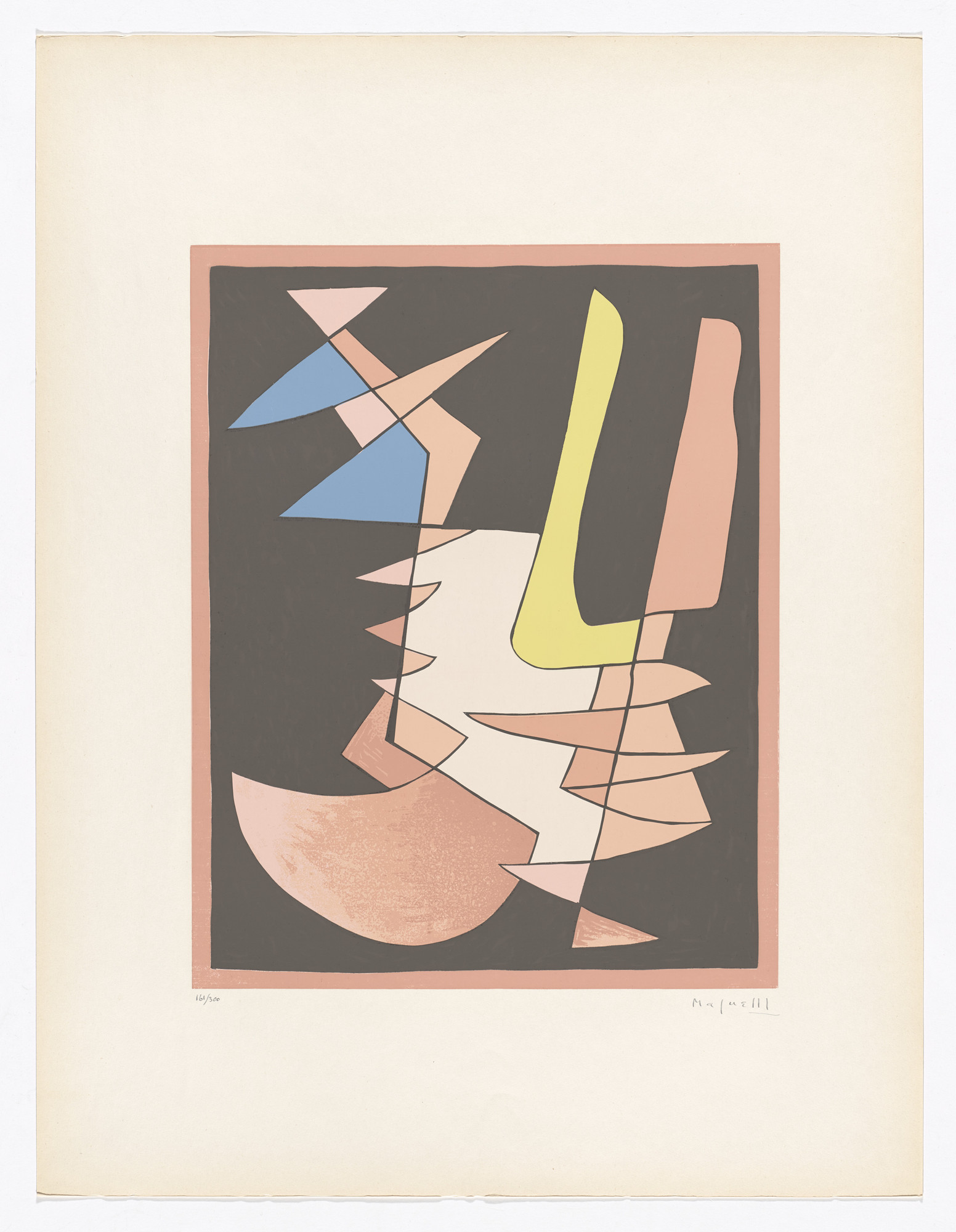 Alberto Magnelli. Opposition from Art of Today, Masters of Abstract Art (Art d'aujourd'hui, maîtres de l'art abstrait): Album I. 1953 (original composition executed in 1942)