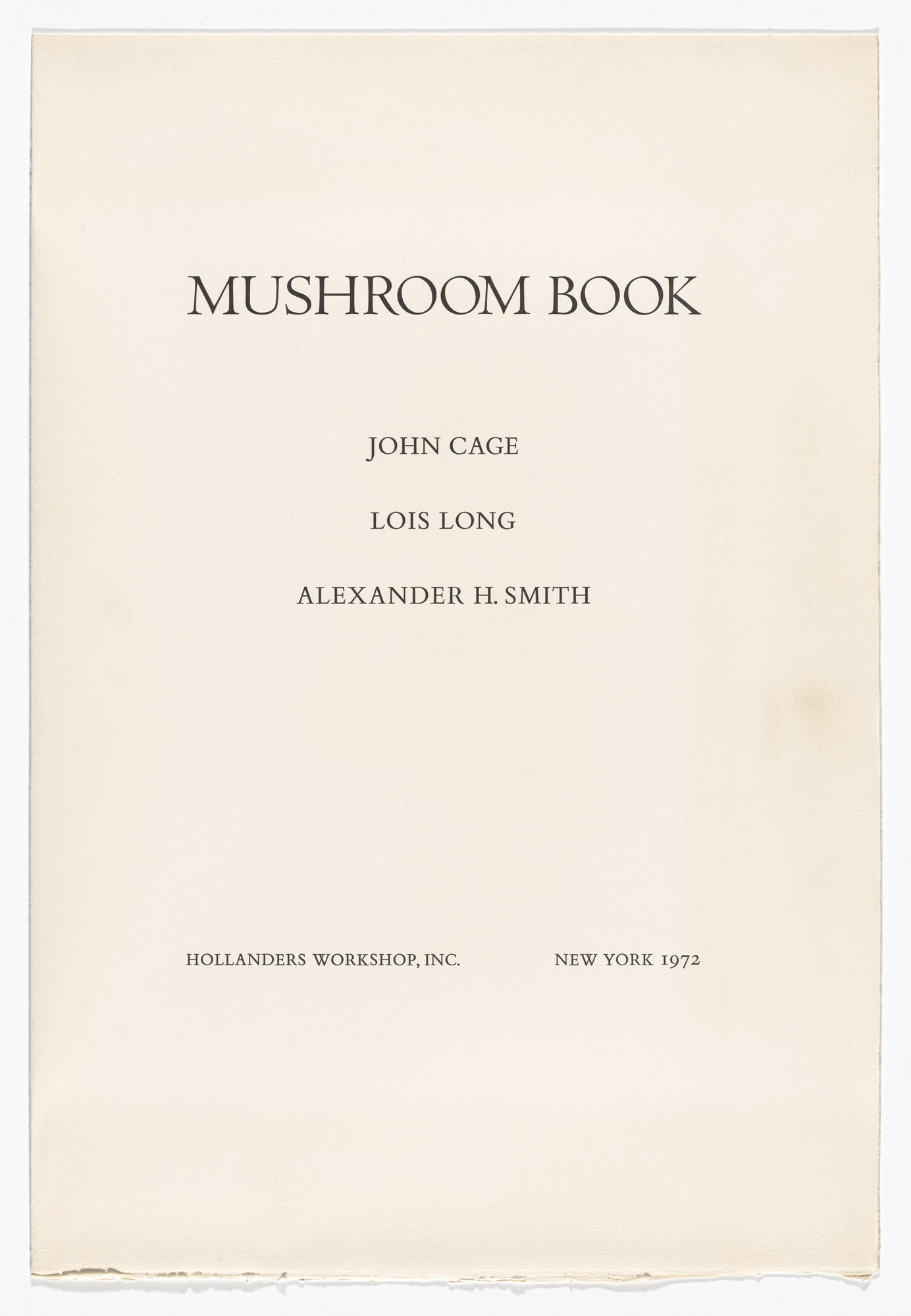 John Cage, Lois Long. Mushroom Book. 1972 (Prints executed August 1971 - May 1972)