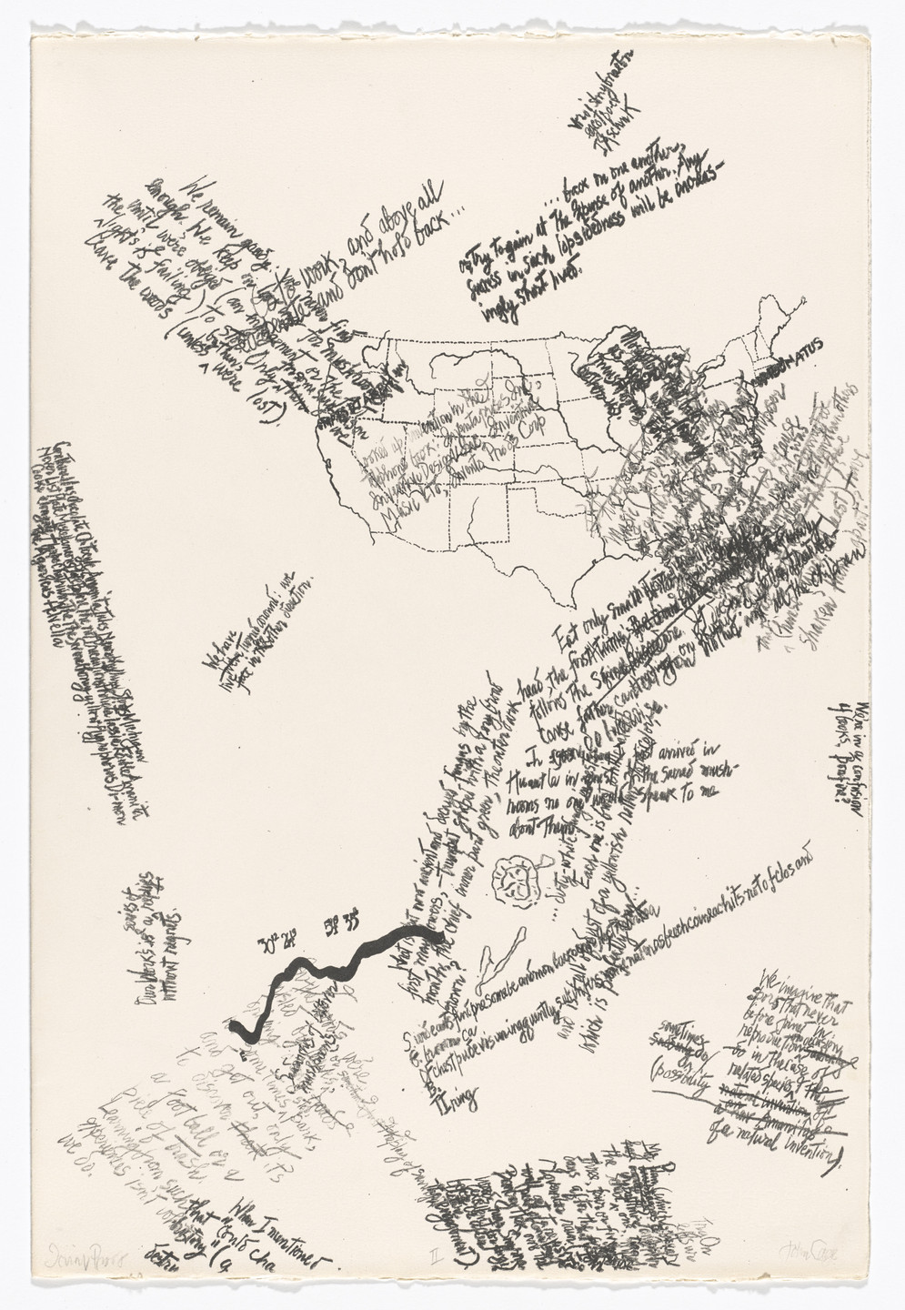 John Cage. II from Mushroom Book. (Print executed 1971-1972).