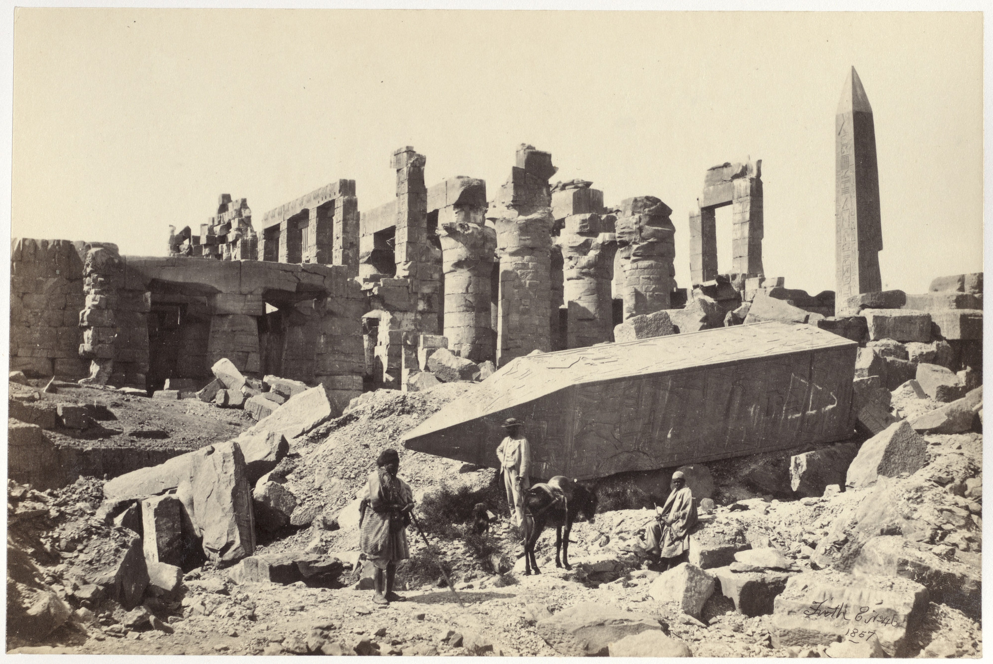 Francis Frith. The Broken Obelisk, Karnac from the album Egypt and Palestine. 1857