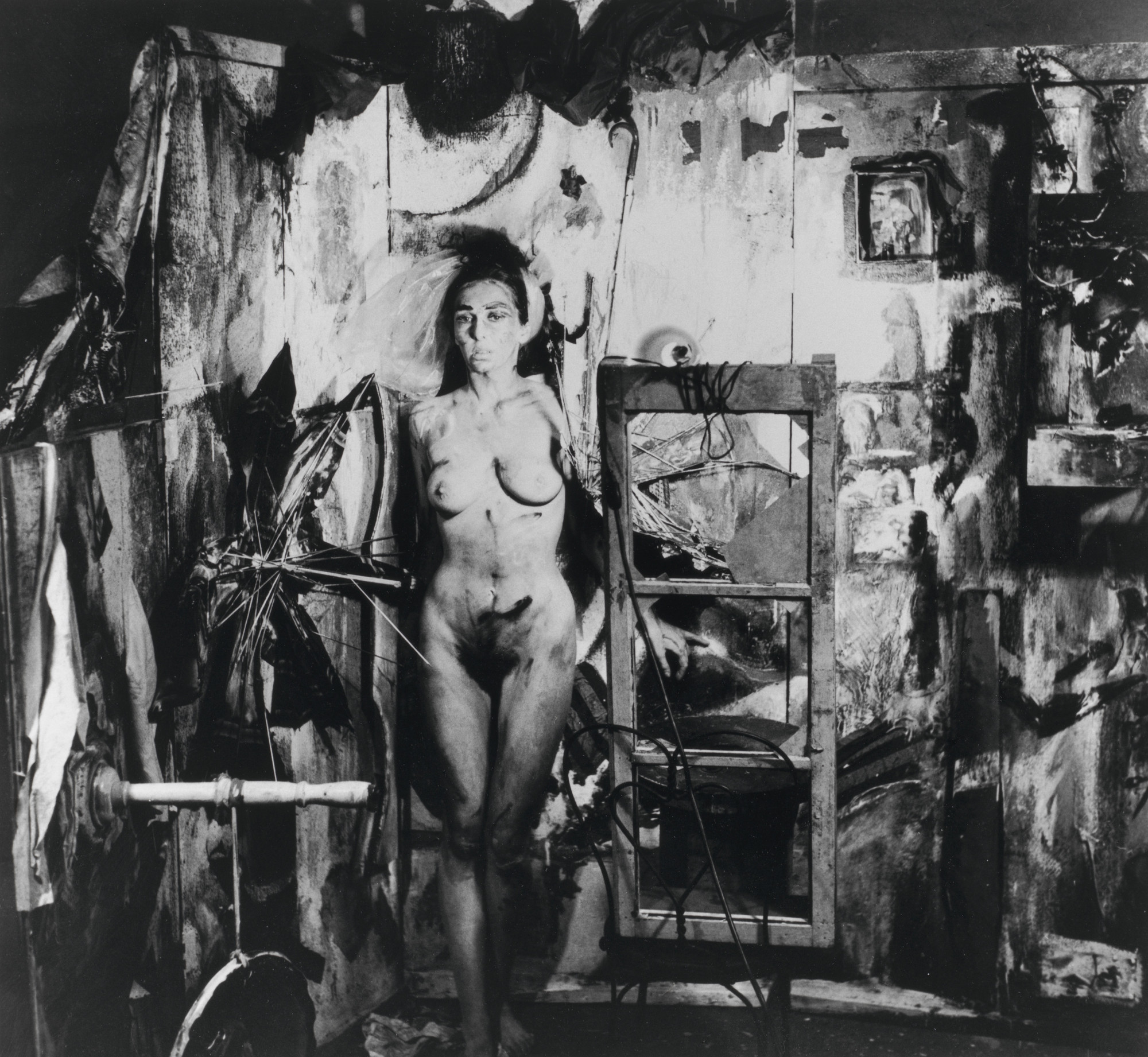 Carolee Schneemann. Eye Body #4 from Eye Body: 36 Transformative Actions for Camera. 1963