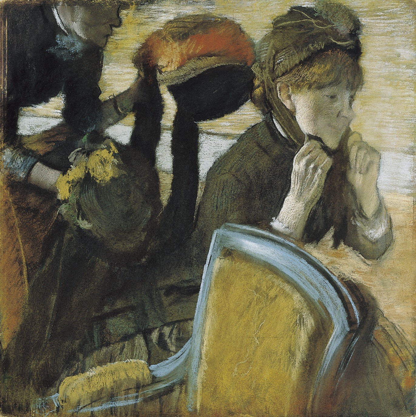 Hilaire-Germain-Edgar Degas. At the Milliner's (Chez la modiste). c. 1882