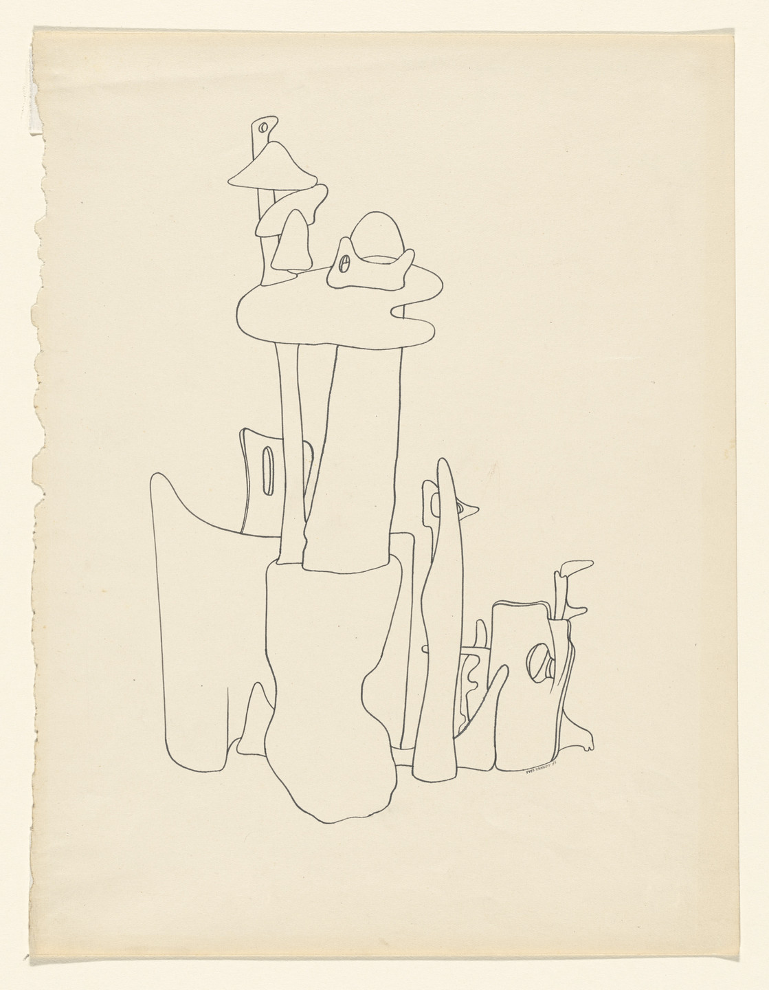 Yves Tanguy. Untitled. 1935