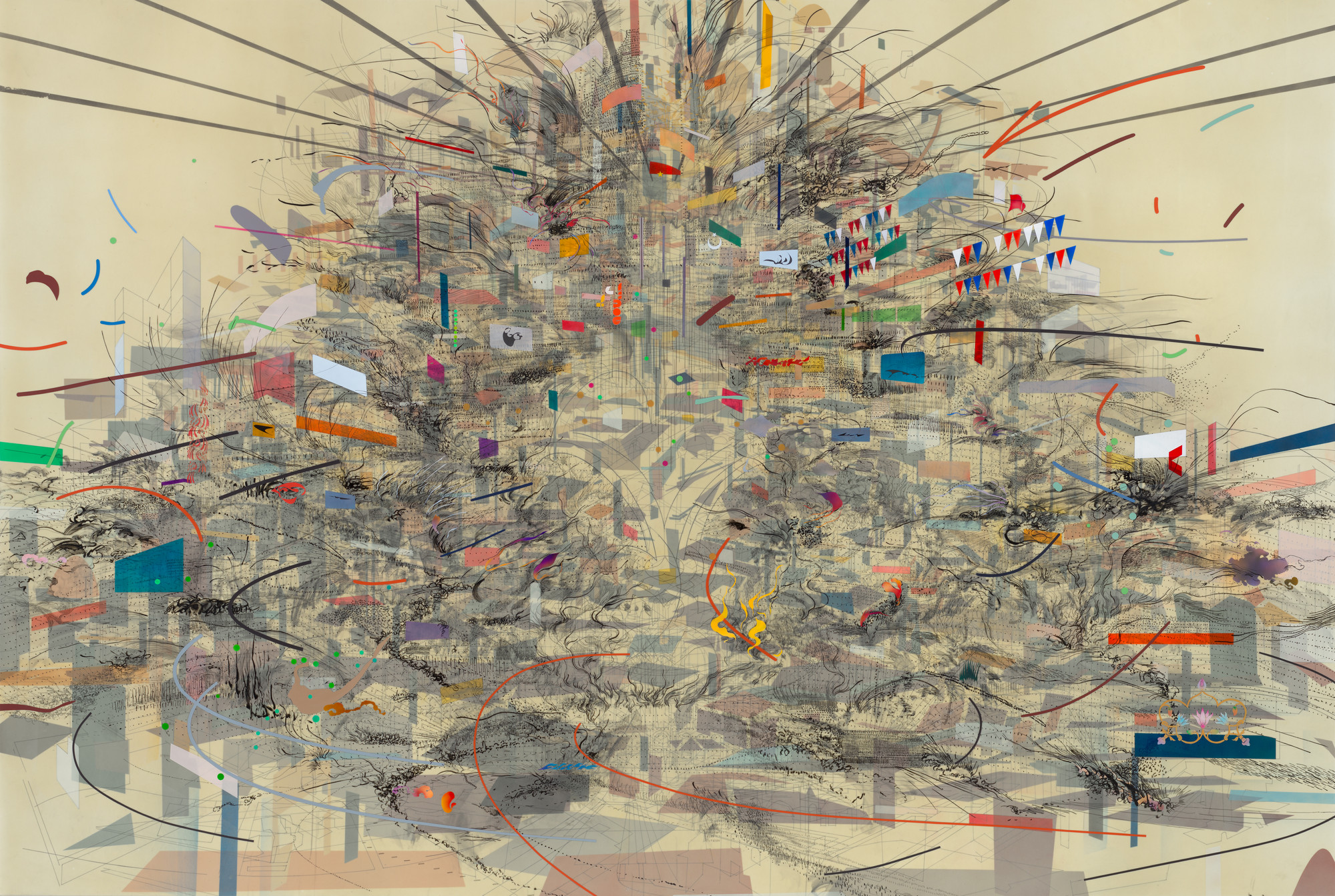 Julie Mehretu. Empirical Construction, Istanbul. 2003   MoMA