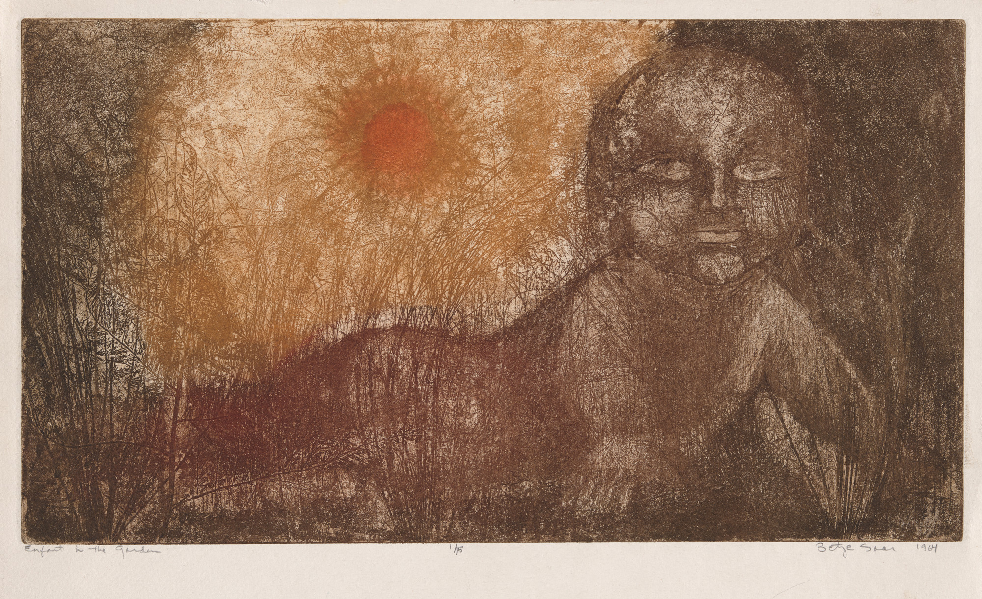 Betye Saar. Enfant in the Garden. 1964