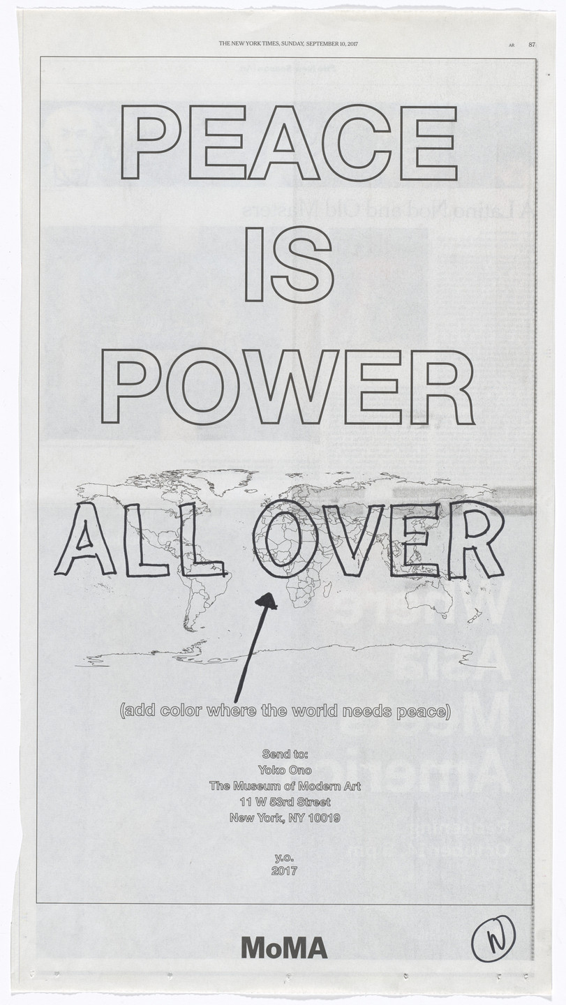 Yoko Ono. Power of Peace. 2017