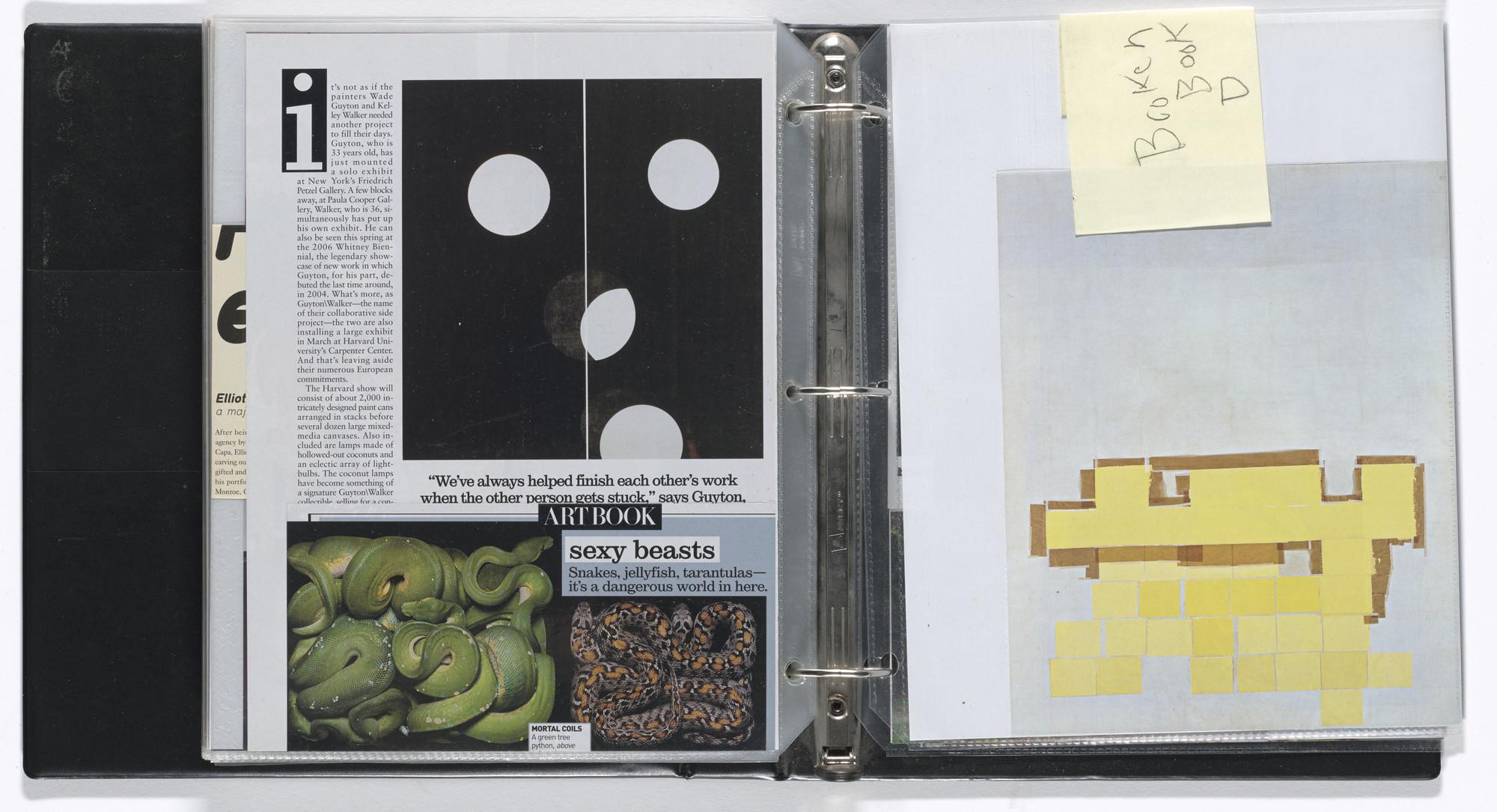 Arthur Jafa  Untitled notebook  1990–2007 | MoMA