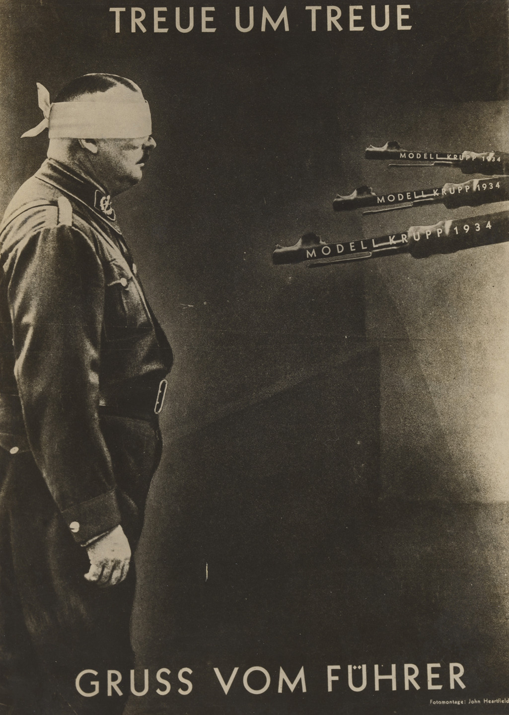John Heartfield (Helmut Herzfeld). Loyalty for Loyalty / Greetings from the Führer (Treue um Treue / Gruß vom Führer). 1934
