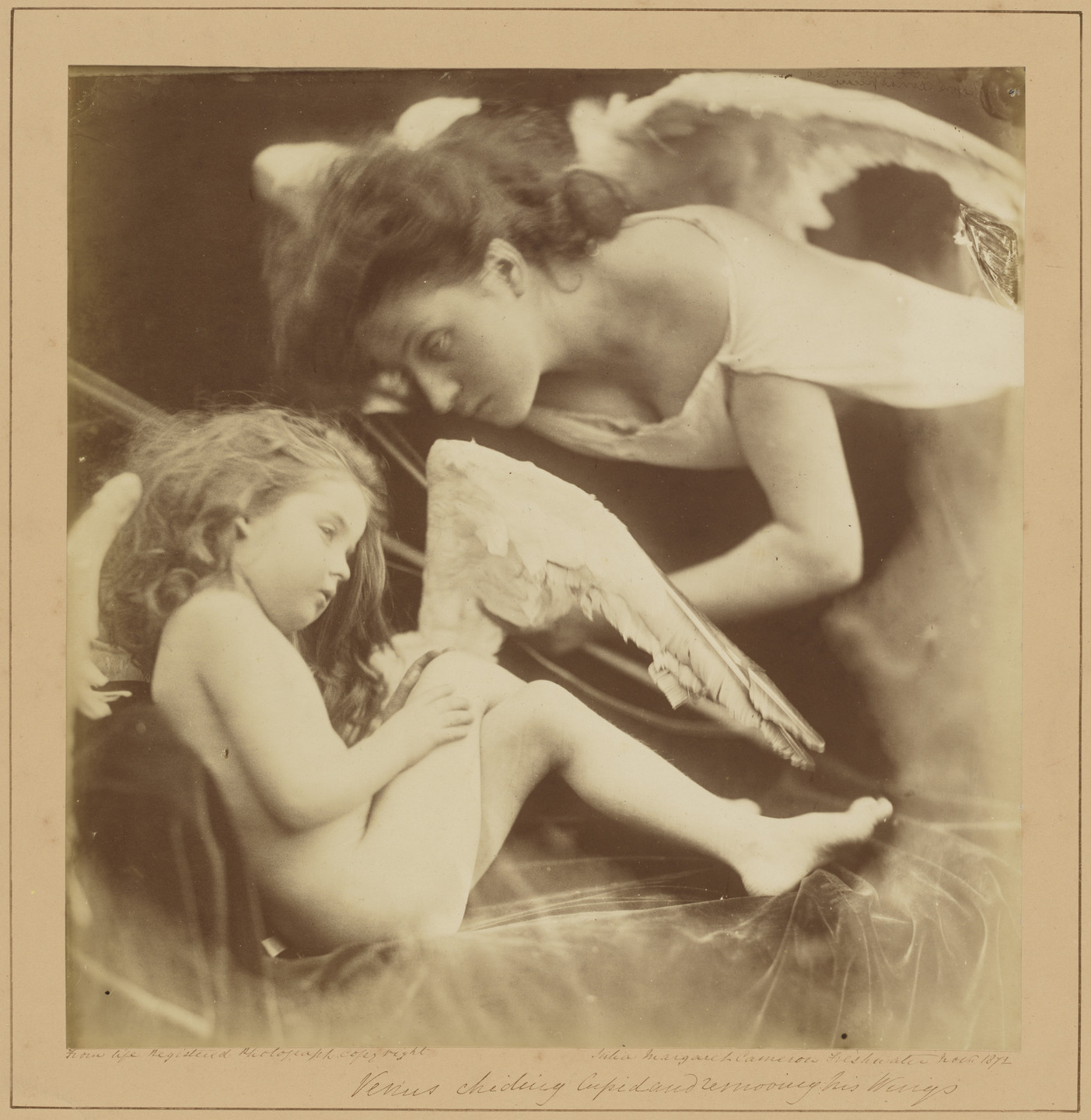 Julia Margaret Cameron. Venus Chiding Cupid and Removing His Wings. 1872