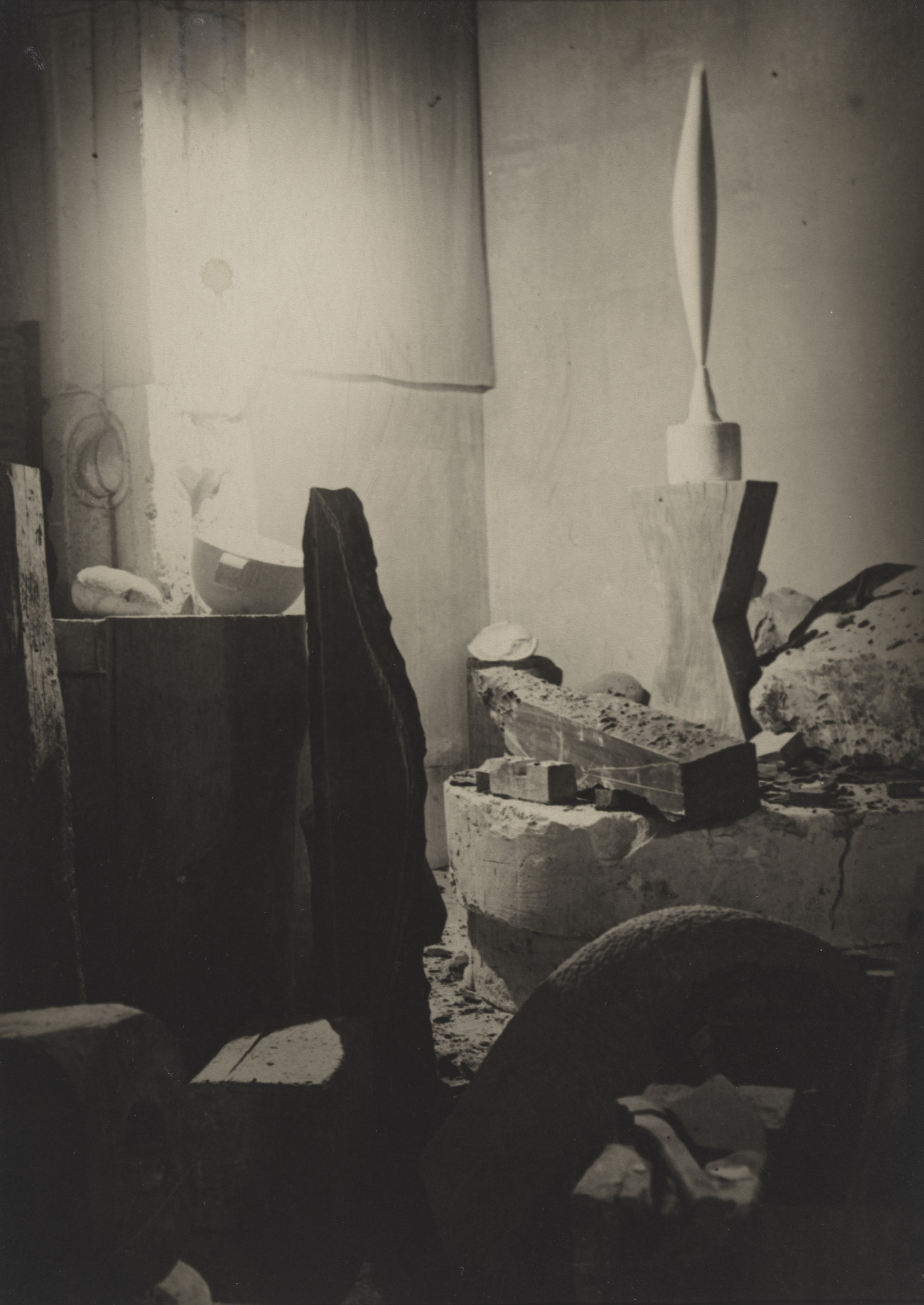 Constantin Brancusi. Untitled (View of the Studio with Bird in Space). 1923