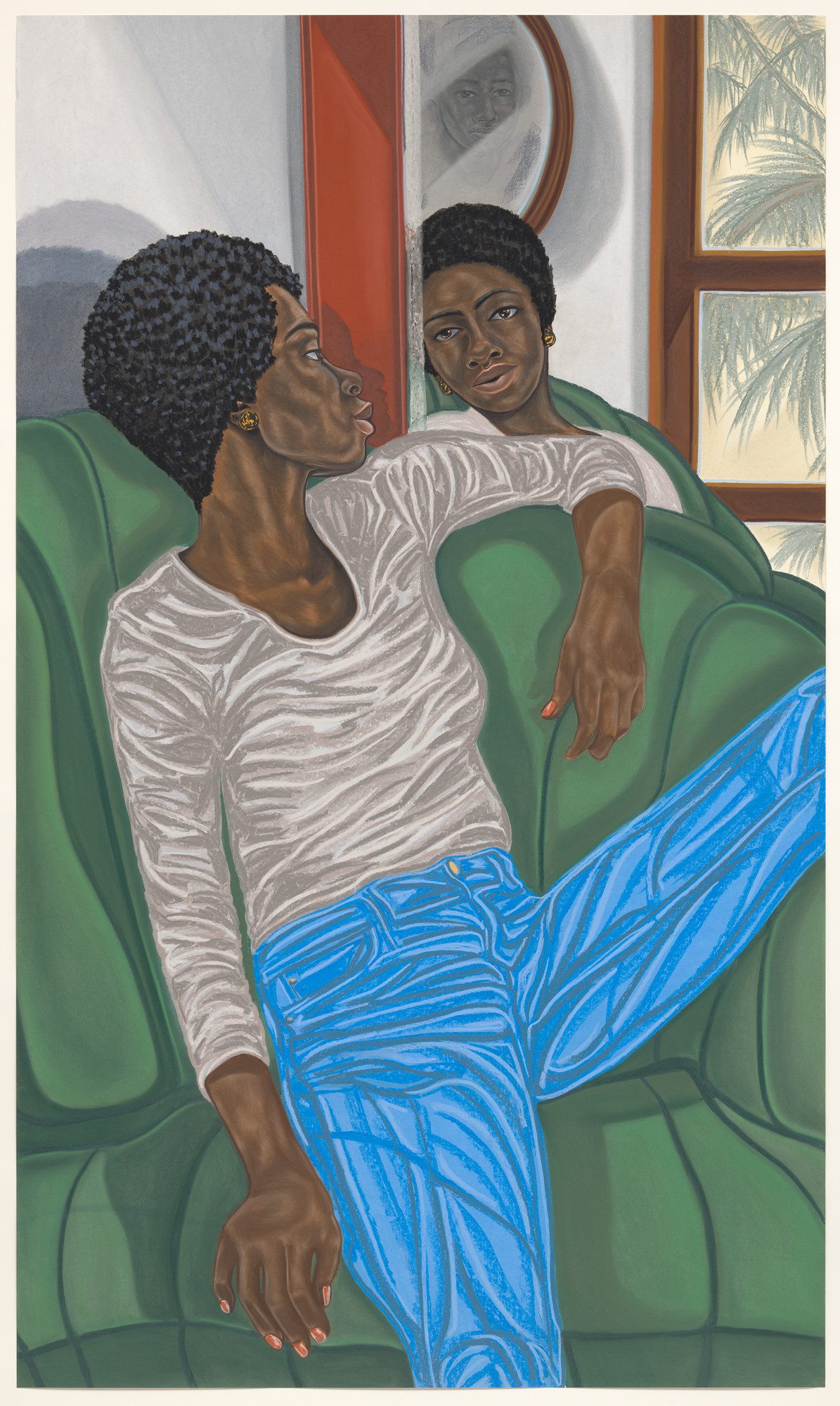 Toyin Ojih Odutola. Projection Enclave. 2018
