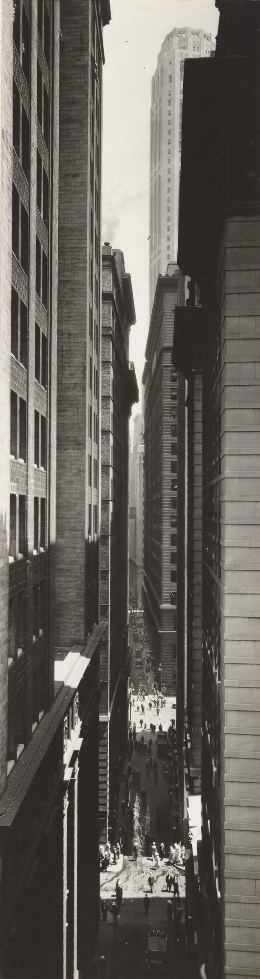 Berenice Abbott. Exchange Place, New York. 1933