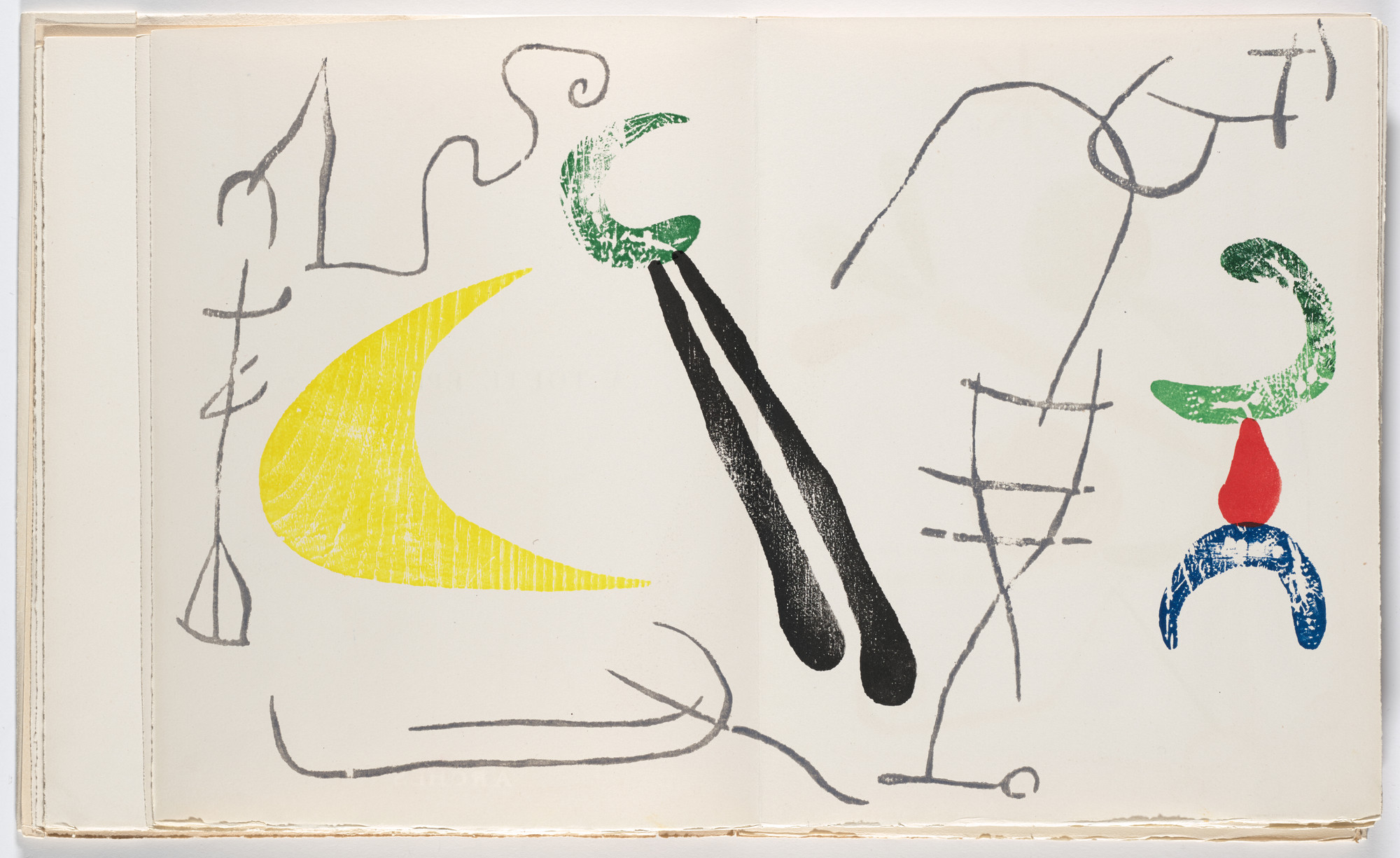 Joan Miró. Double page frontispiece from À toute épreuve (Proof Against All). 1947–58, published 1958