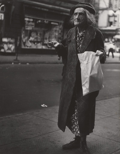 Lisette Model. Old Woman, Orchard Street. 1942