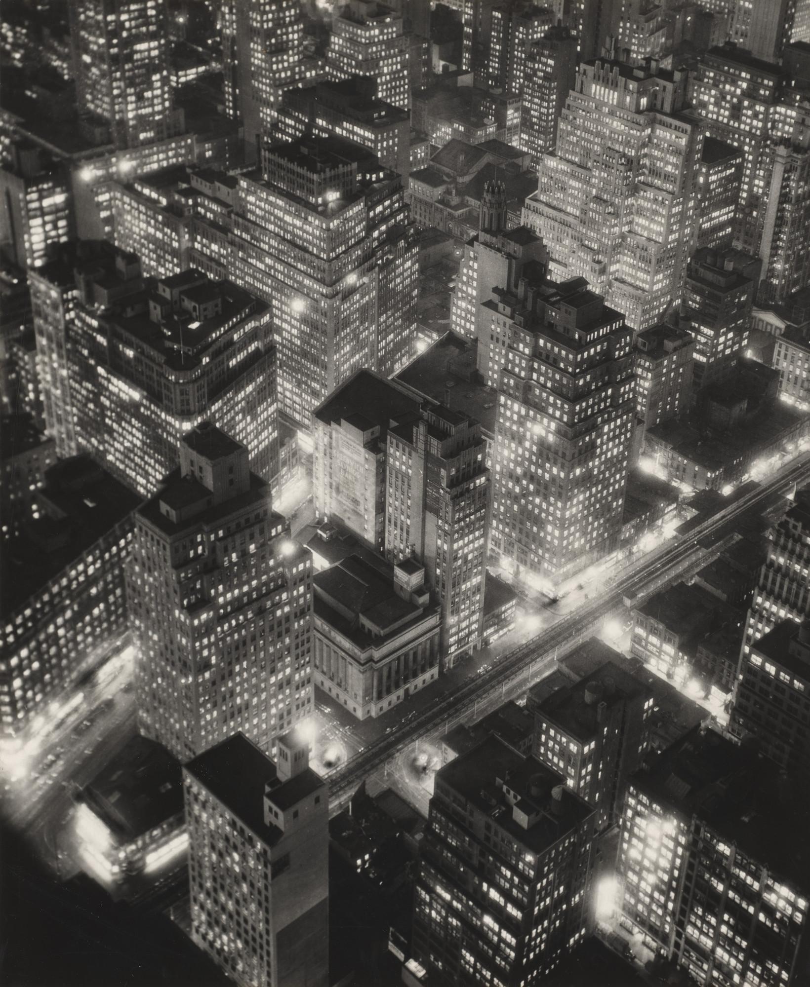 Berenice Abbott New York At Night 1932 Moma
