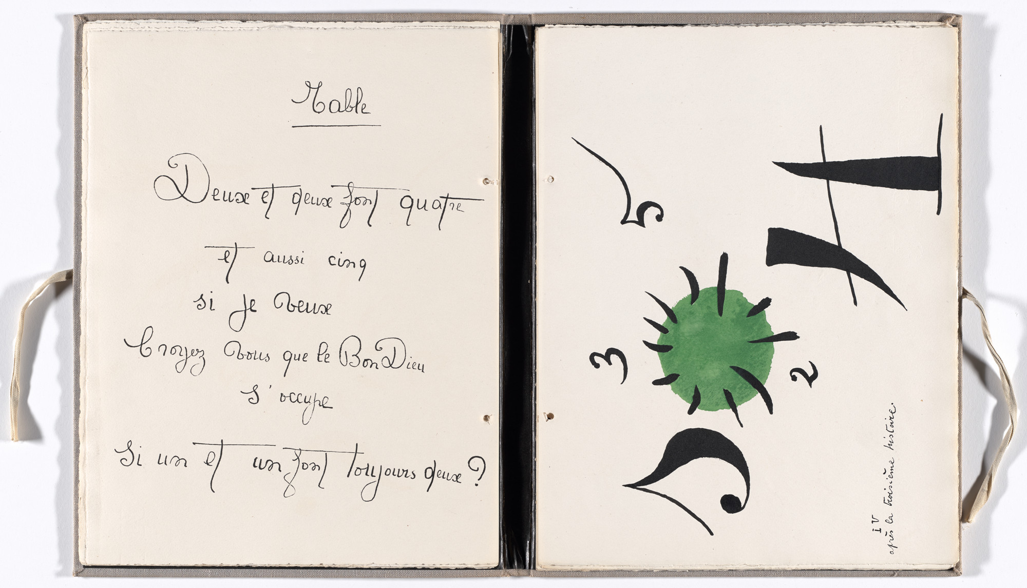 Joan Miró. Plate (folio 8) from Il était une petite pie (Once There Was a Little Magpie). 1927–28, published 1928