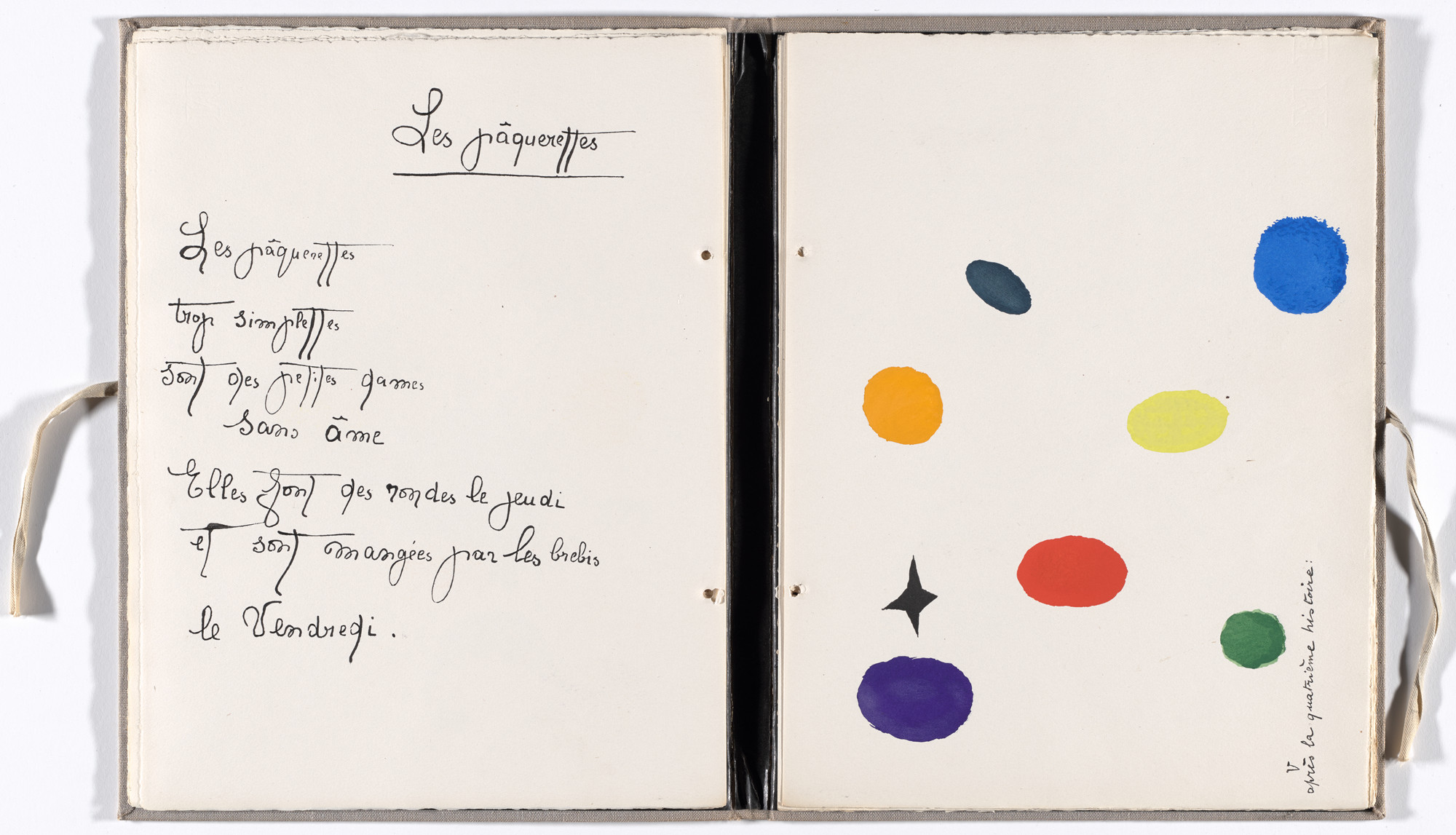 Joan Miró. Plate (folio10) from Il était une petite pie (Once There Was a Little Magpie). 1927–28, published 1928