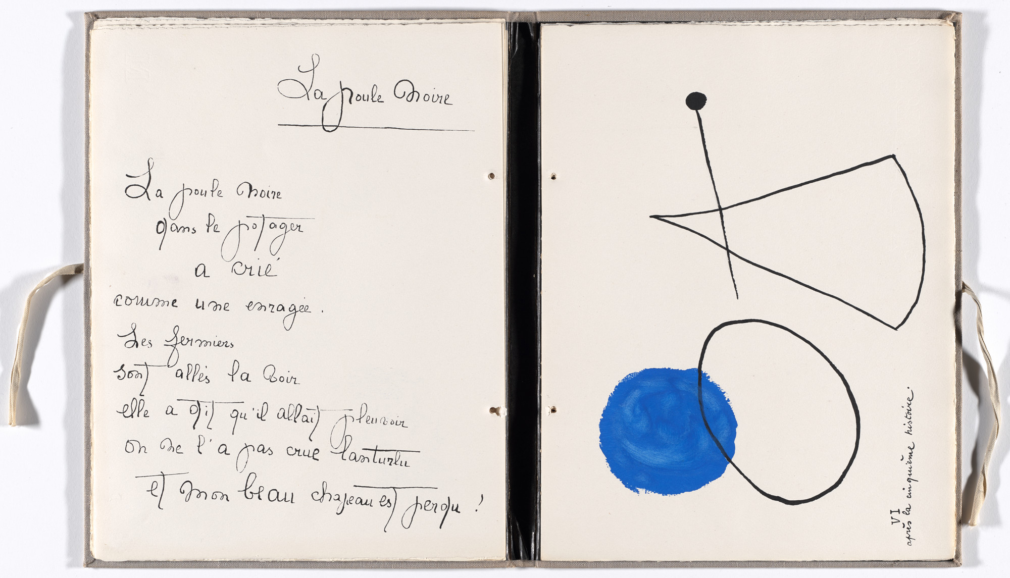 Joan Miró. Plate (folio 12) from Il était une petite pie (Once There Was a Little Magpie). 1927–28, published 1928
