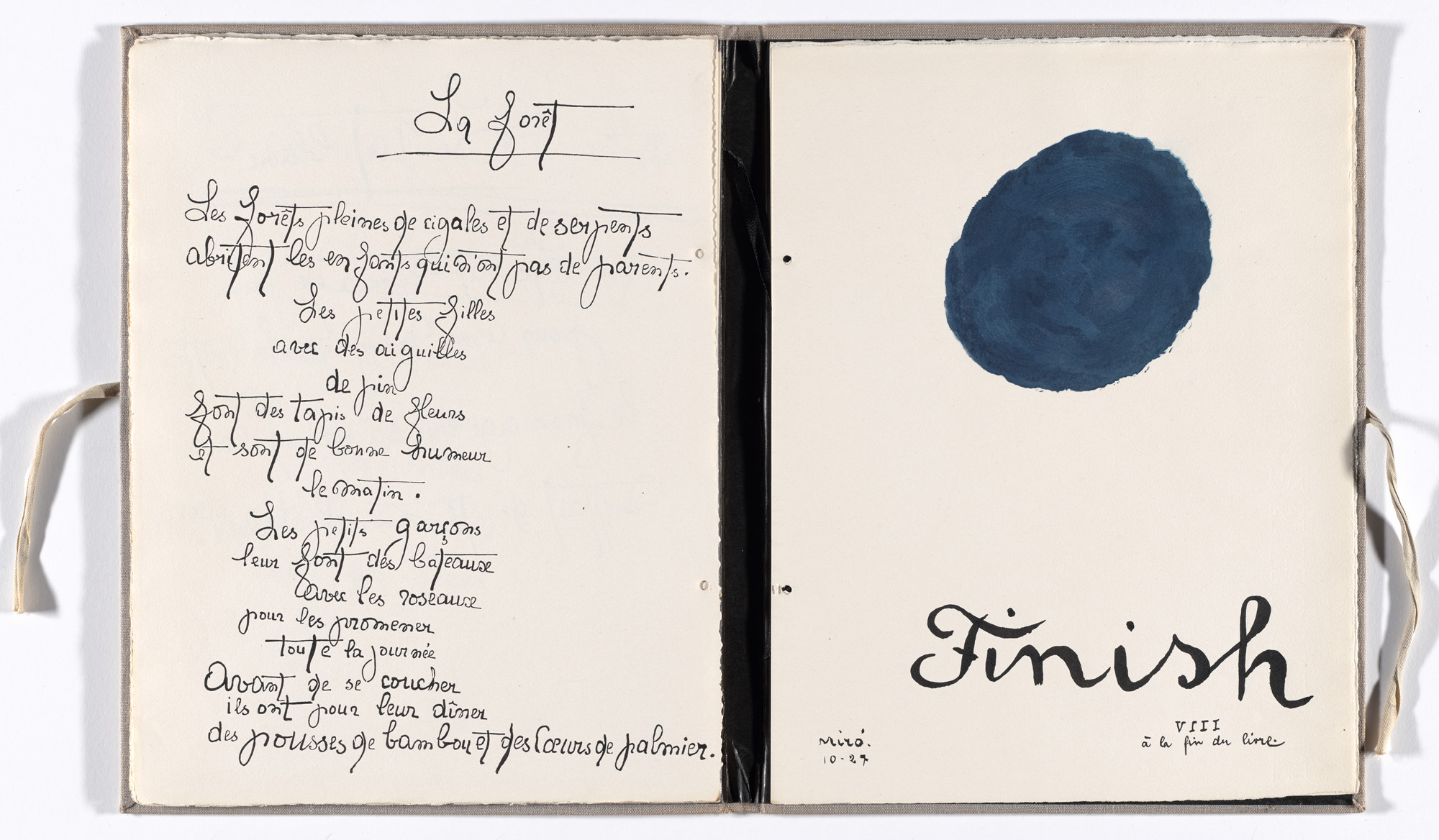 Joan Miró. Plate (folio 18) from Il était une petite pie (Once There Was a Little Magpie). 1927–28, published 1928