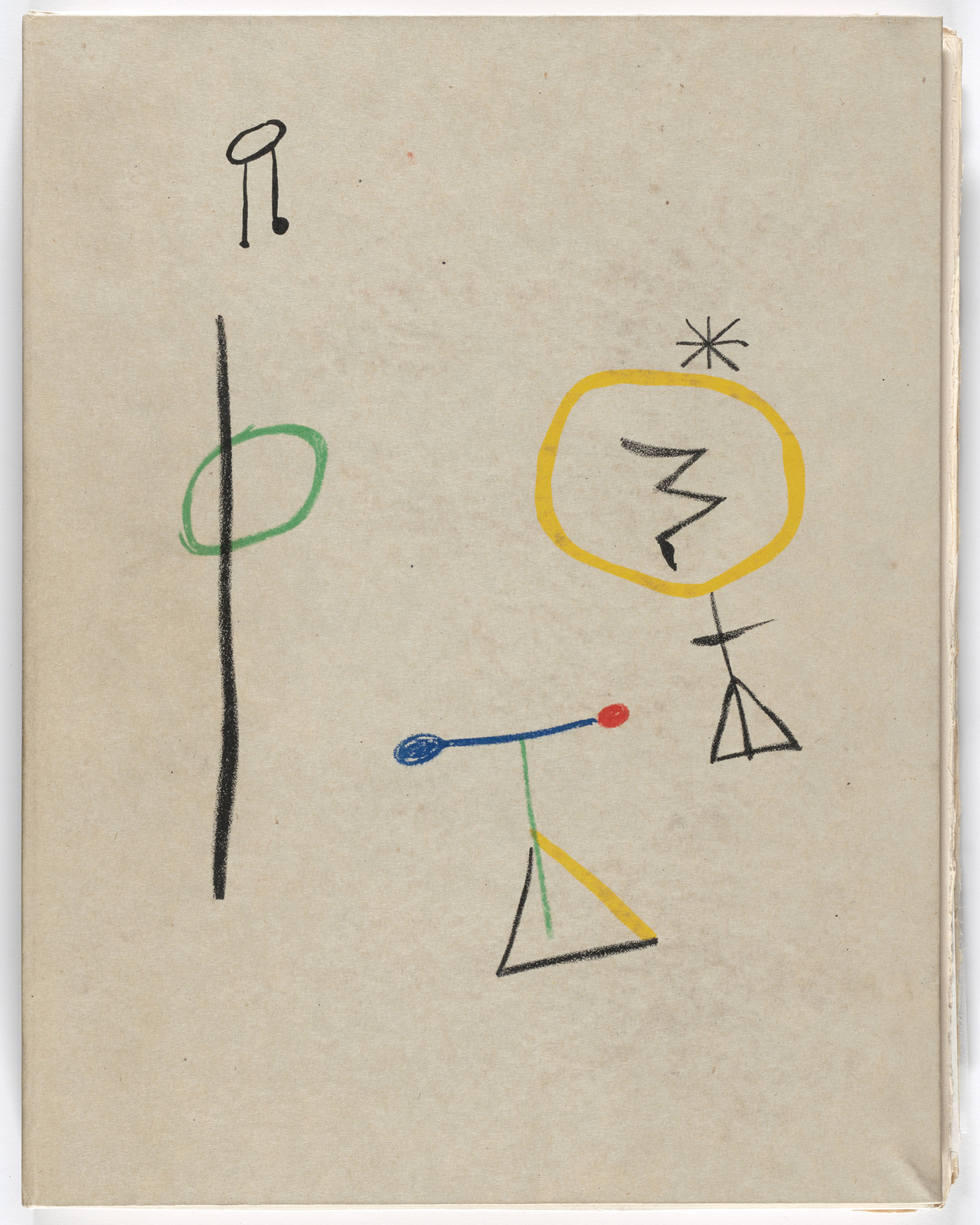 Joan Miró. Publisher's slipcase from Parler seul (Speaking Alone). 1948–50, published 1950