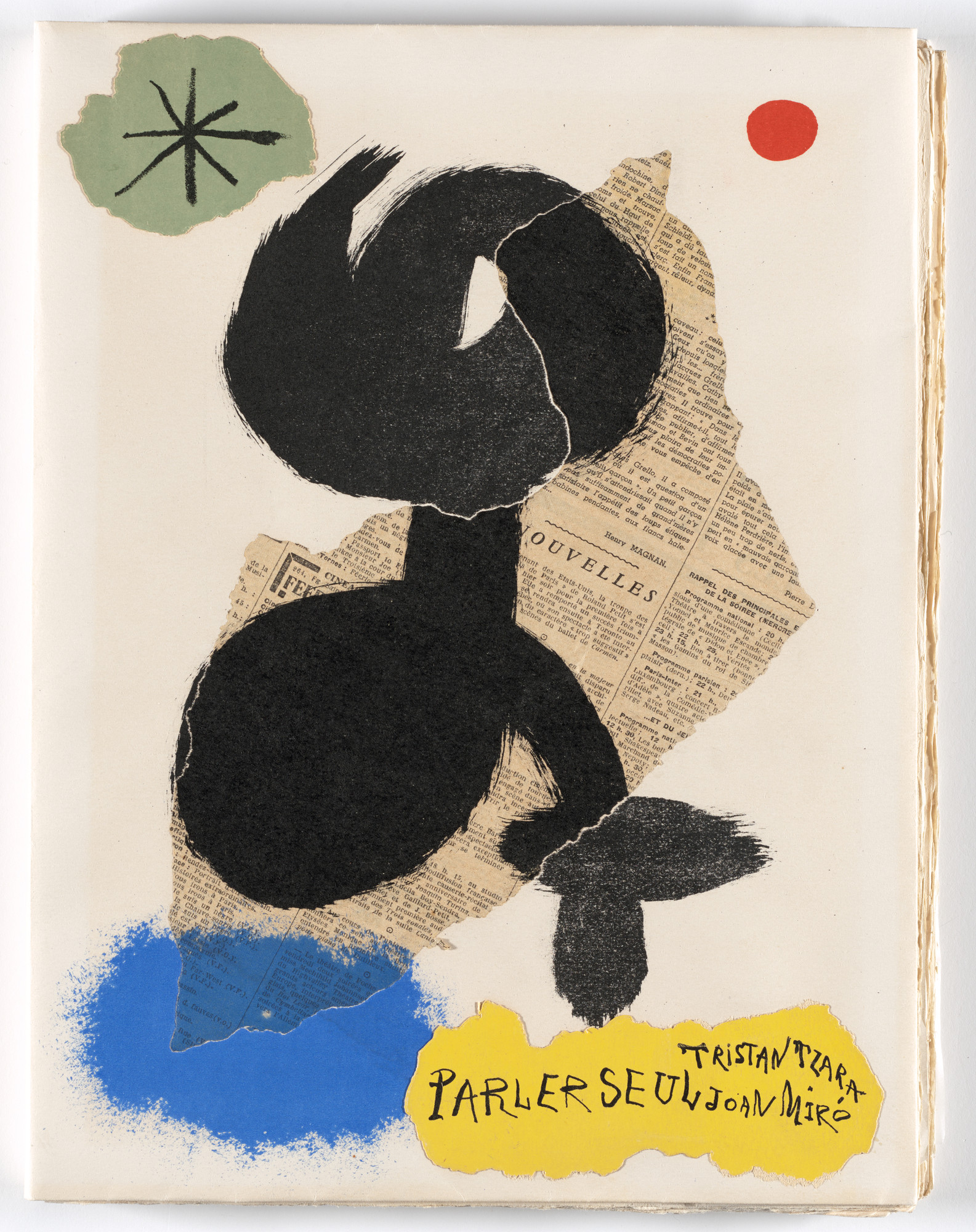Joan Miró. Wrapper front from Parler seul (Speaking Alone). 1948–50, published 1950