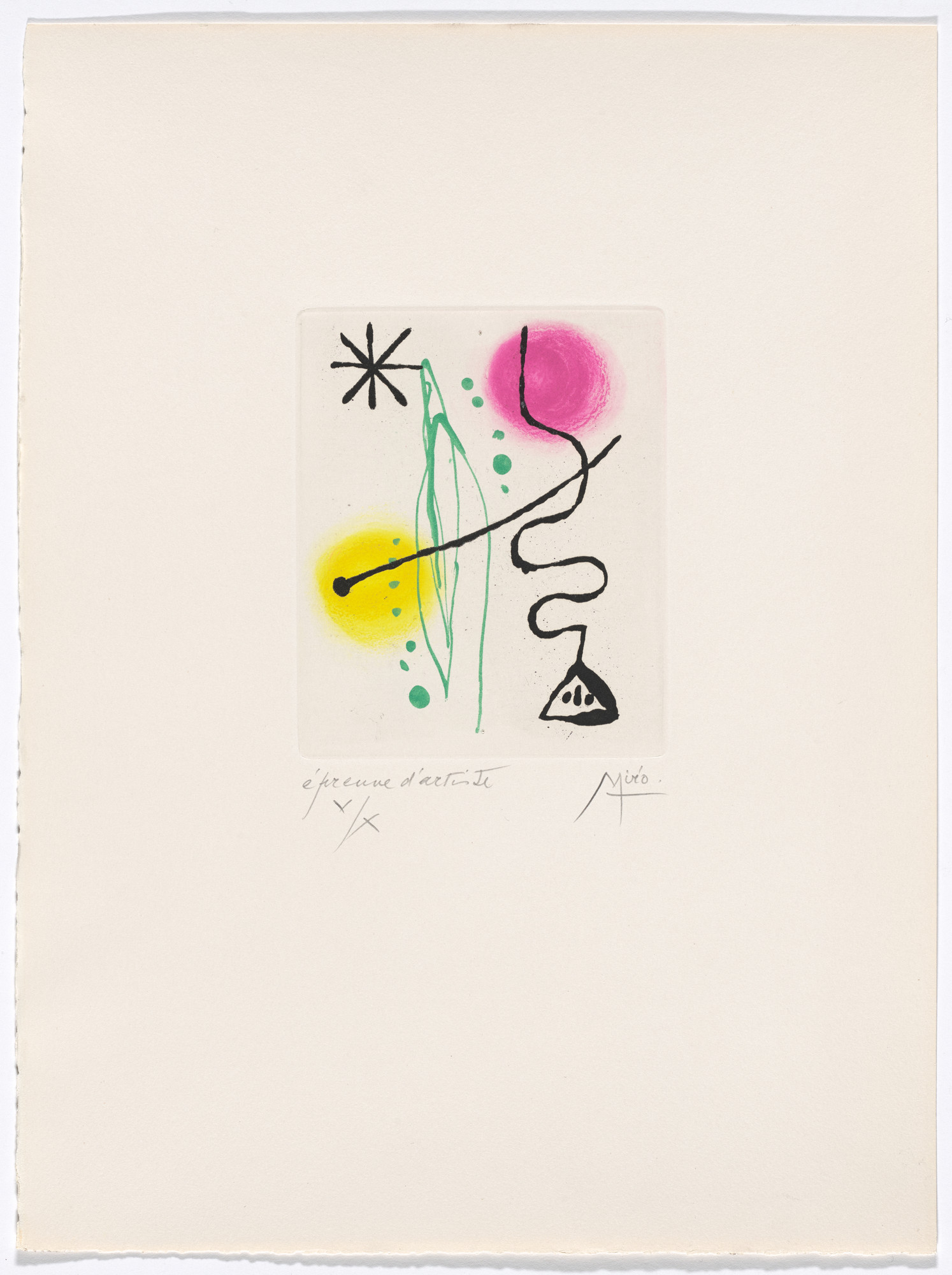 Joan Miró. Plate XI from The Ring of Dawn Suite (Suite la bague d'aurore). 1957