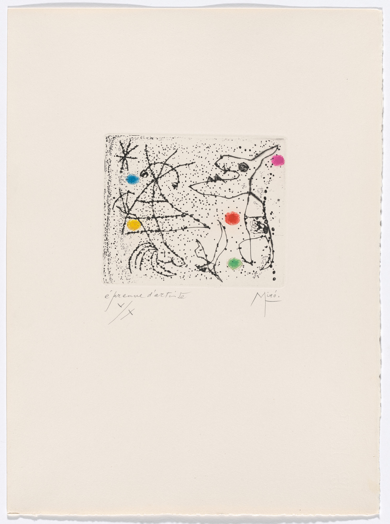 Joan Miró. Plate XXII from The Ring of Dawn Suite (Suite la bague d'aurore). 1957