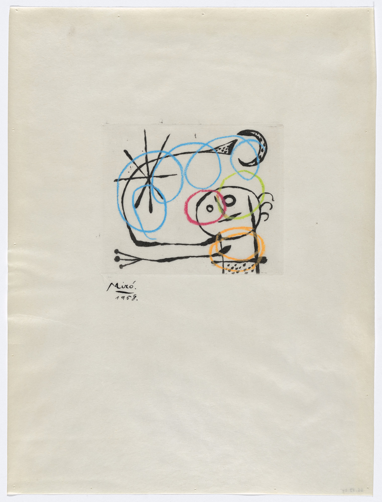 Joan Miró. Variant of plate VI from The Ring of Dawn Suite (Suite la bague d'aurore). 1957