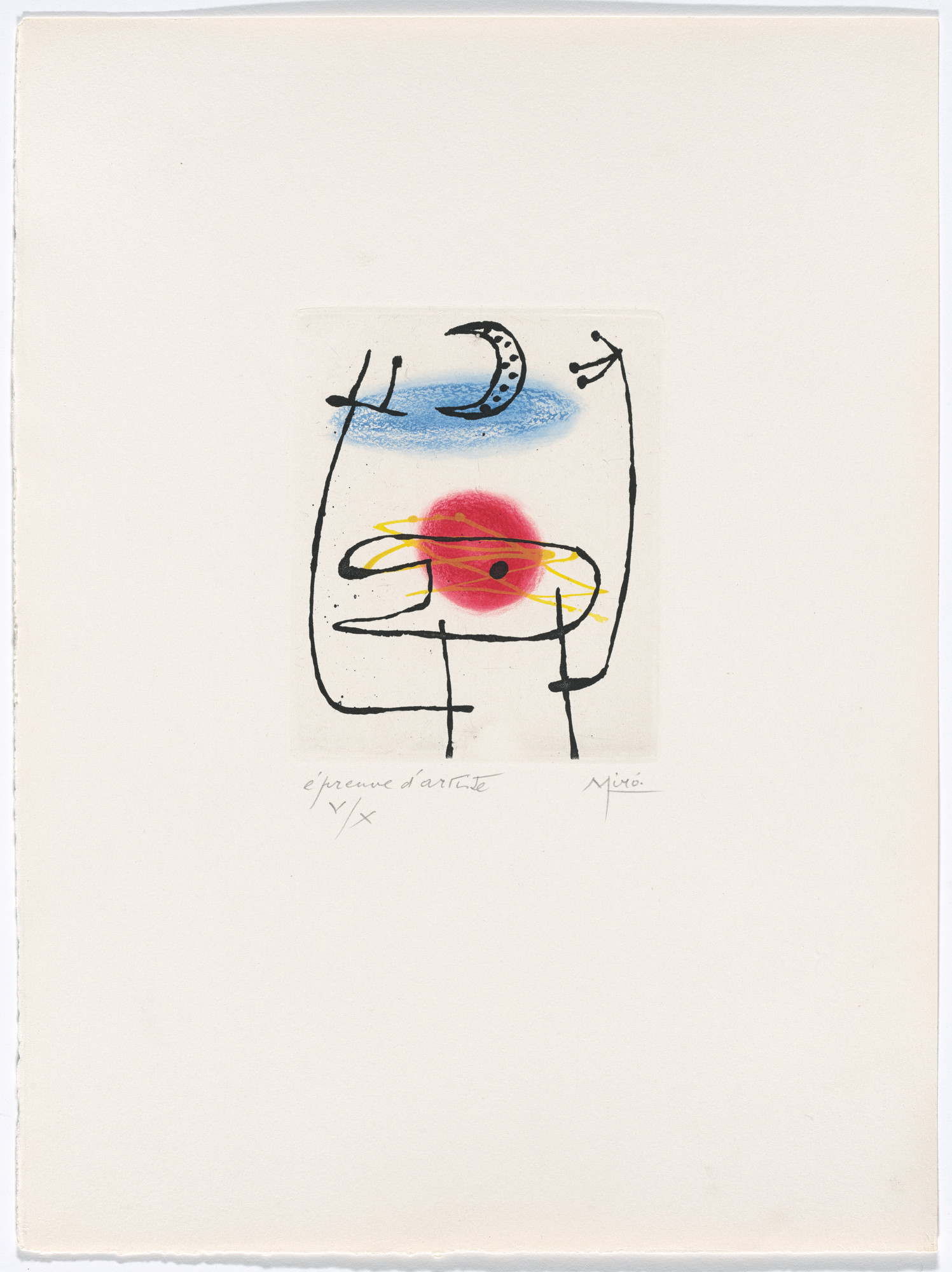 Joan Miró. Plate III from The Ring of Dawn Suite (Suite la bague d'aurore). 1957