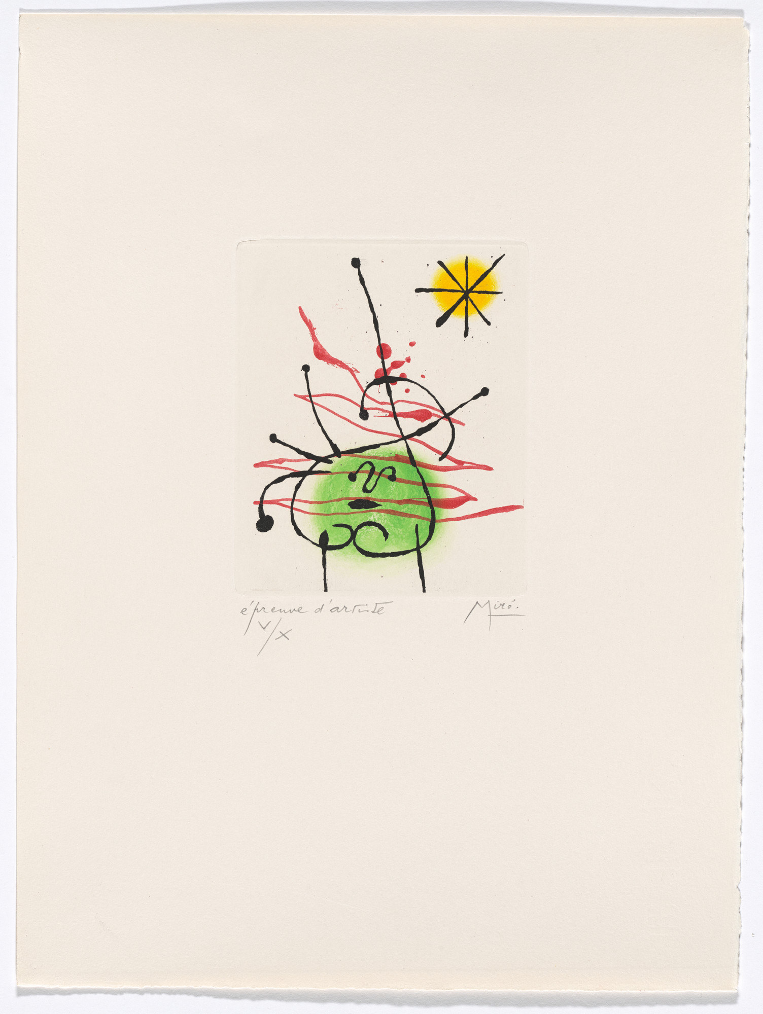Joan Miró. Plate IV from The Ring of Dawn Suite (Suite la bague d'aurore). 1957