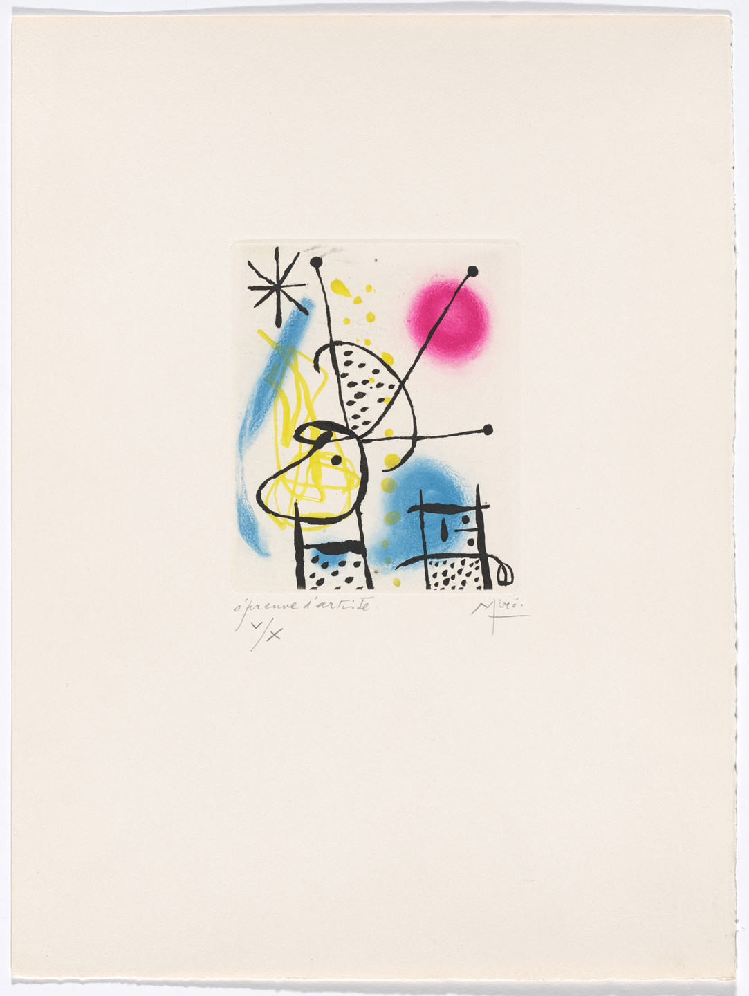 Joan Miró. Plate V from The Ring of Dawn Suite (Suite la bague d'aurore). 1957