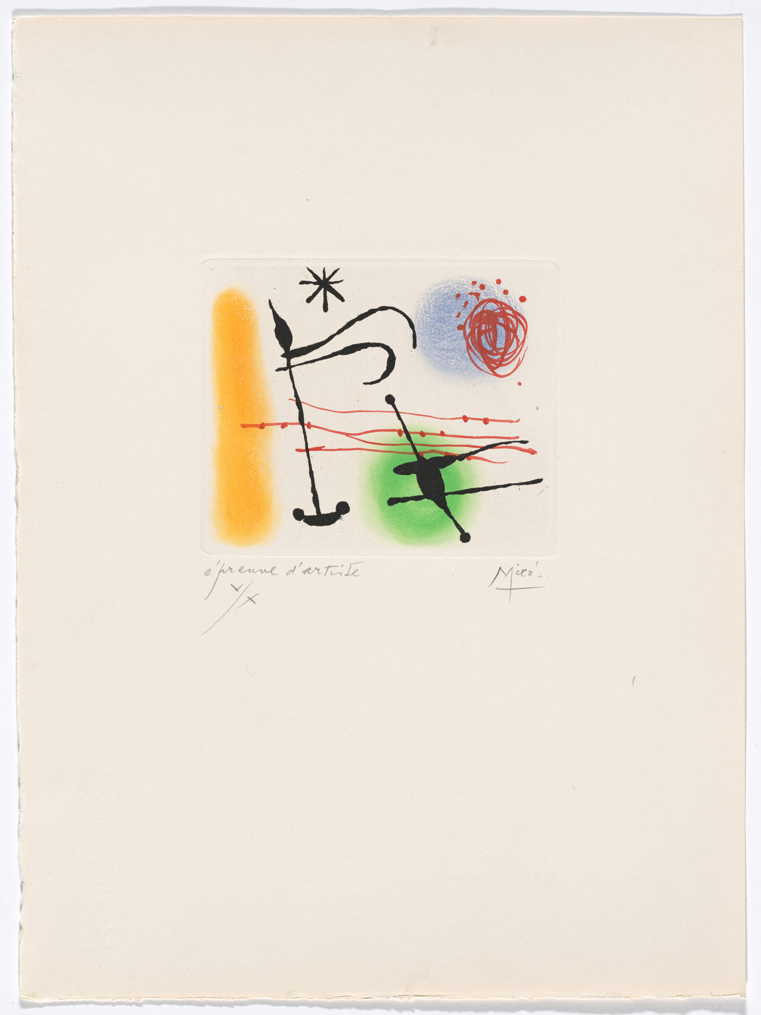 Joan Miró. Plate IX from The Ring of Dawn Suite (Suite la bague d'aurore). 1957