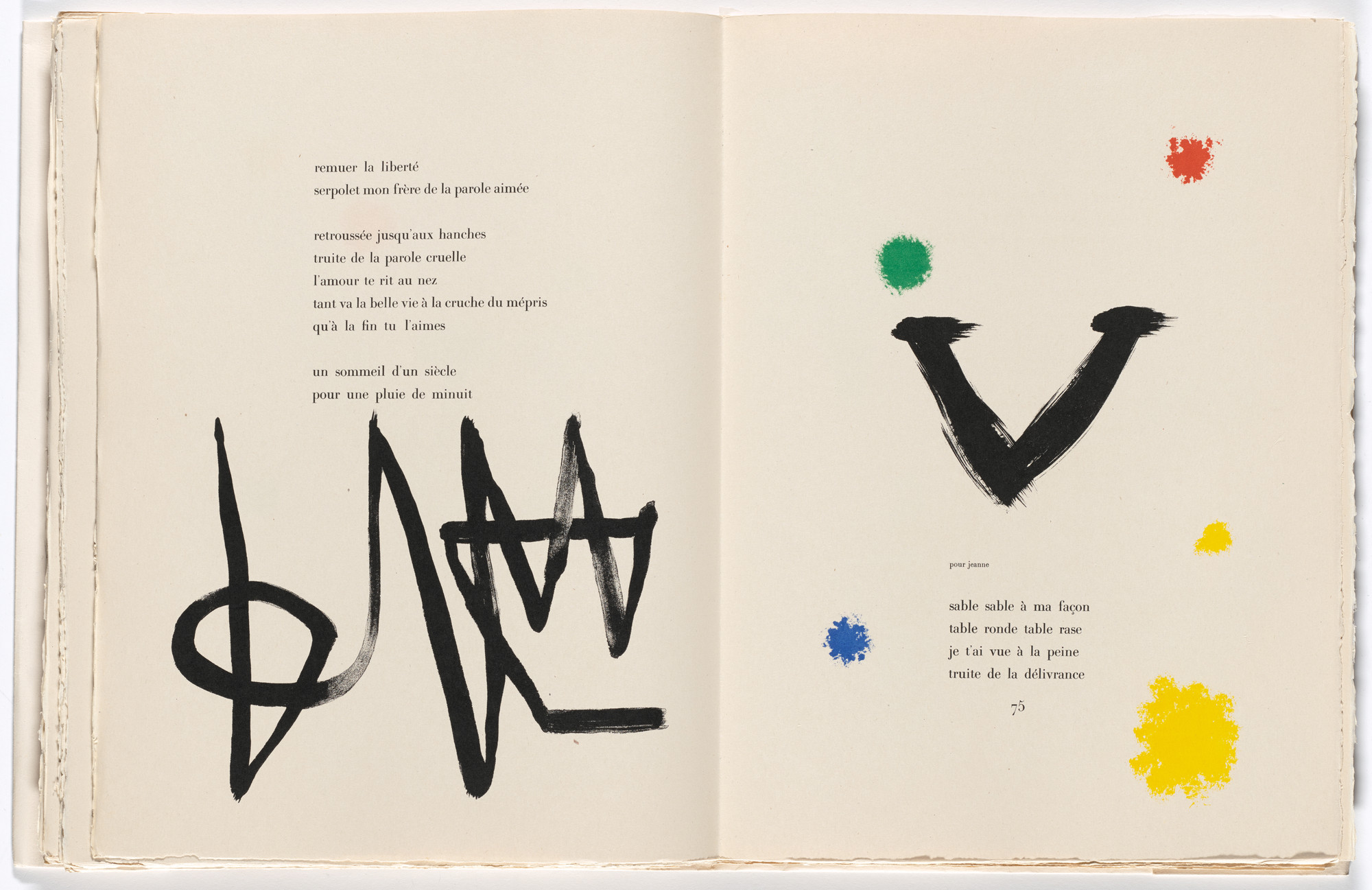 Joan Miro In Text Plate Page 74 From Parler Seul Speaking